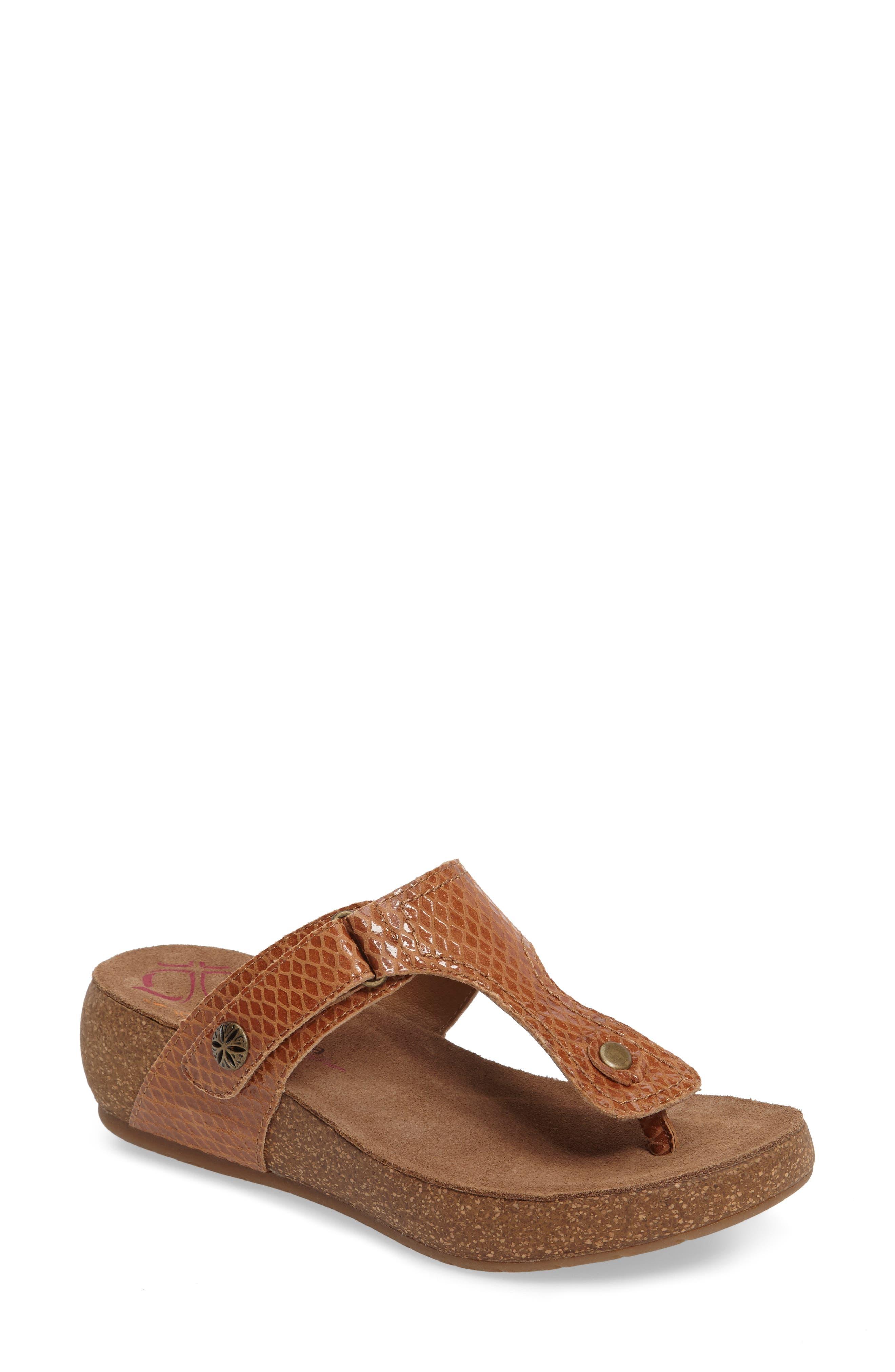 Shantel Flip Flop,                         Main,                         color, Luggage Print Leather