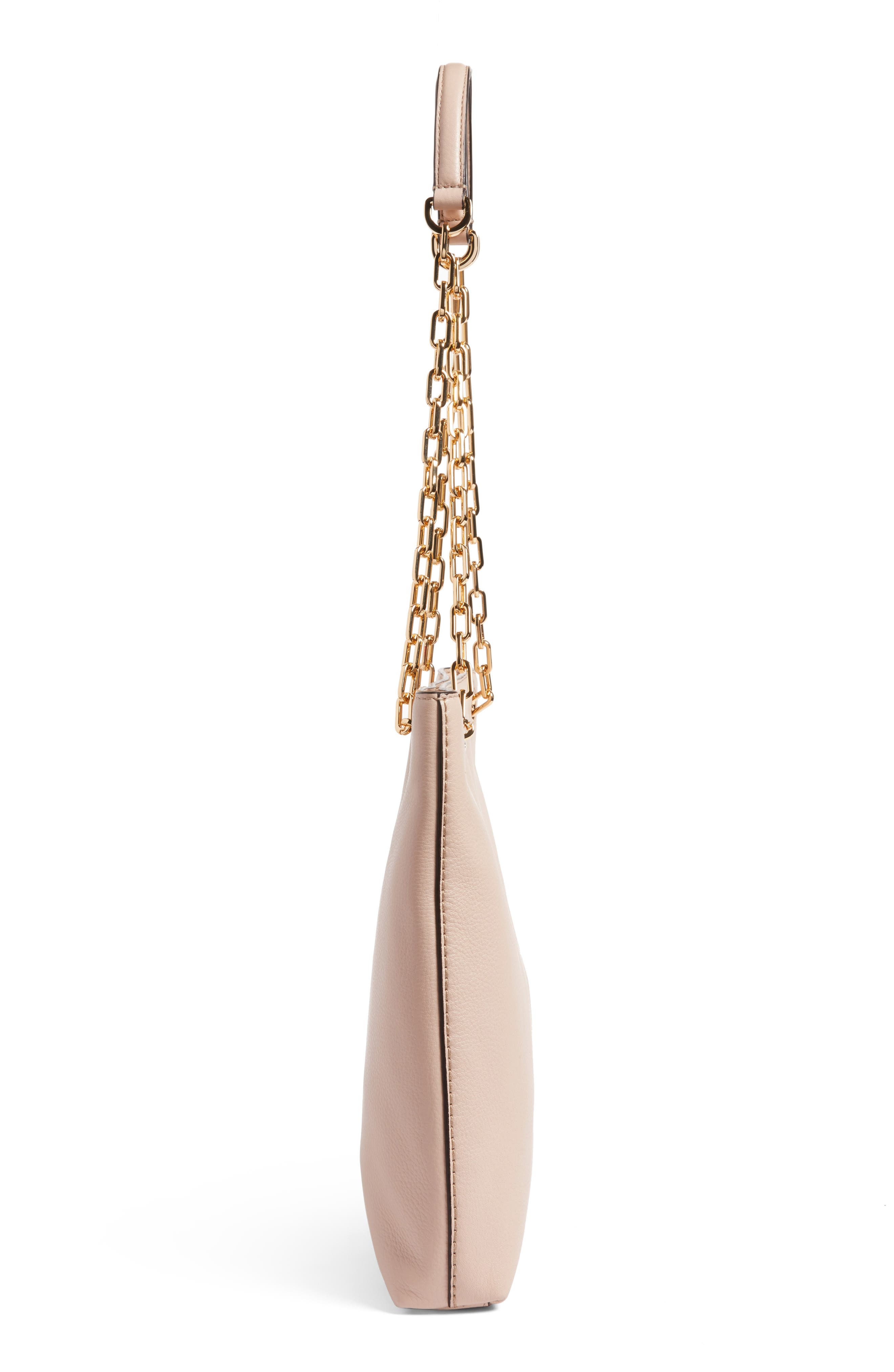 Frida Swingpack Leather Crossbody Bag,                             Alternate thumbnail 5, color,                             Light Oak