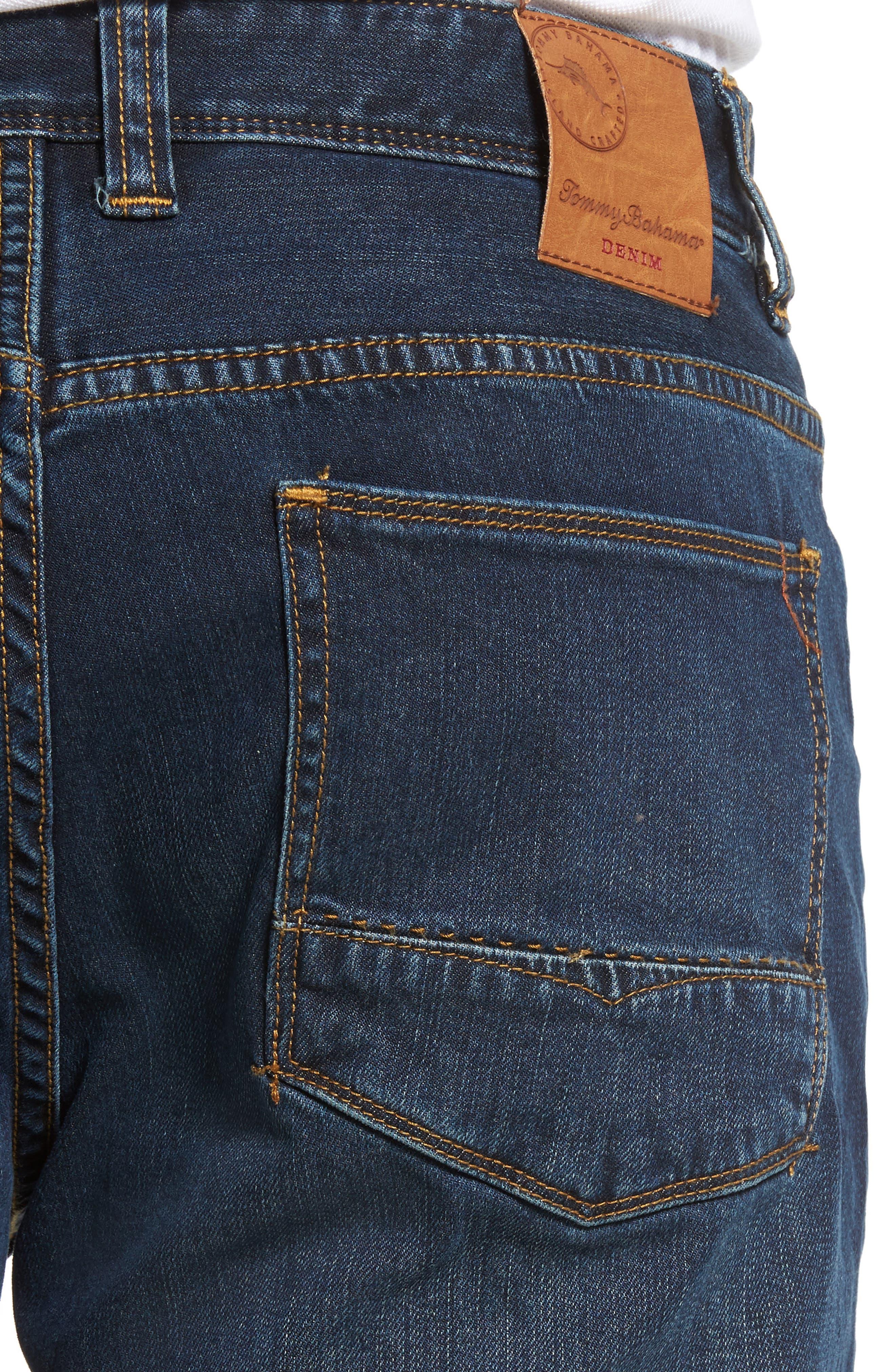 Straight Leg Jeans,                             Alternate thumbnail 4, color,                             Vintage Dark Wash
