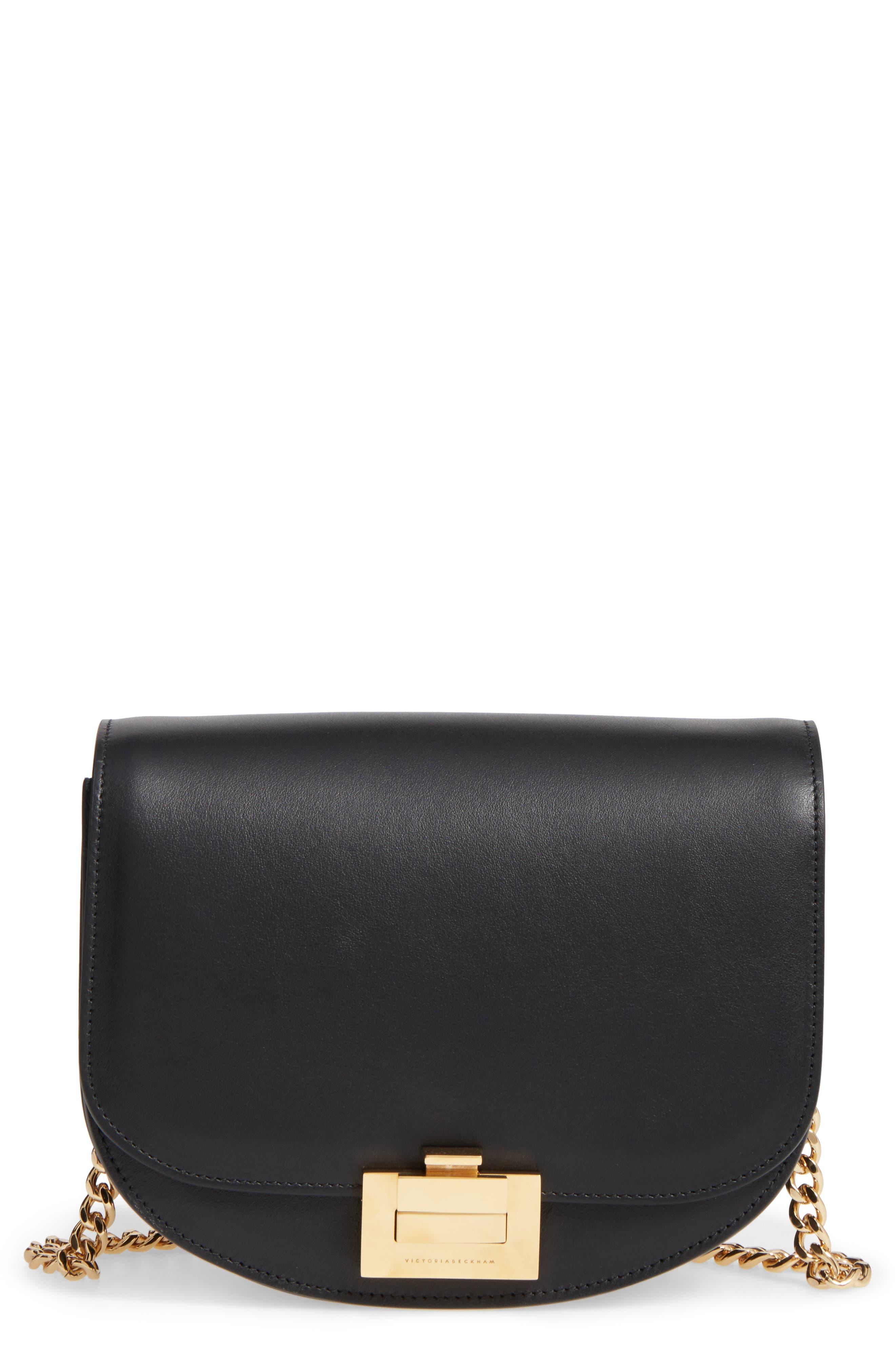 Leather Bag,                             Main thumbnail 1, color,                             Black