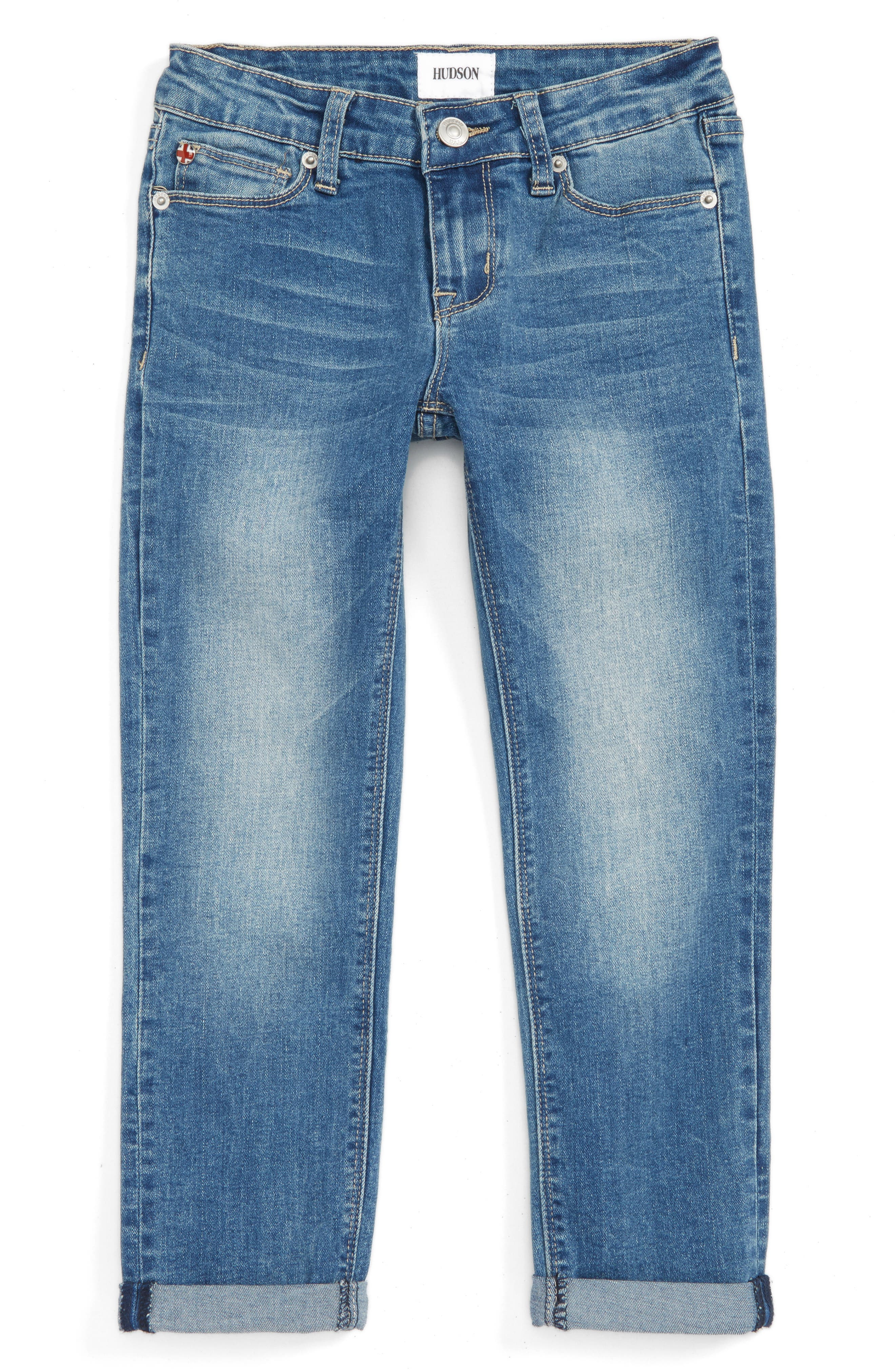 Hudson Kids Rolled Crop Skinny Jeans (Big Girls)
