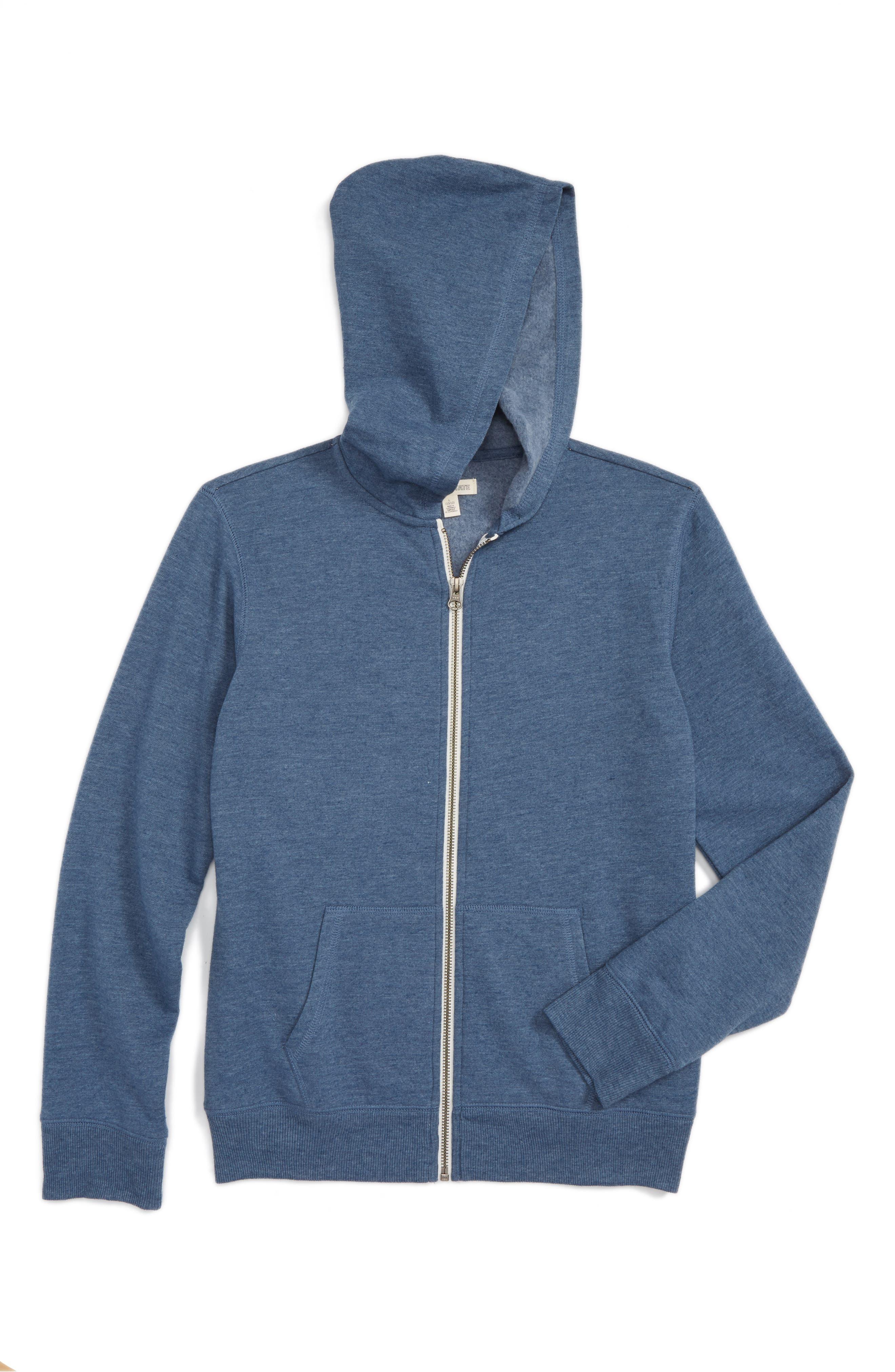 Main Image - Tucker + Tate Zip-Up Hooded Sweatshirt (Toddler Boys, Little Boys & Big Boys)