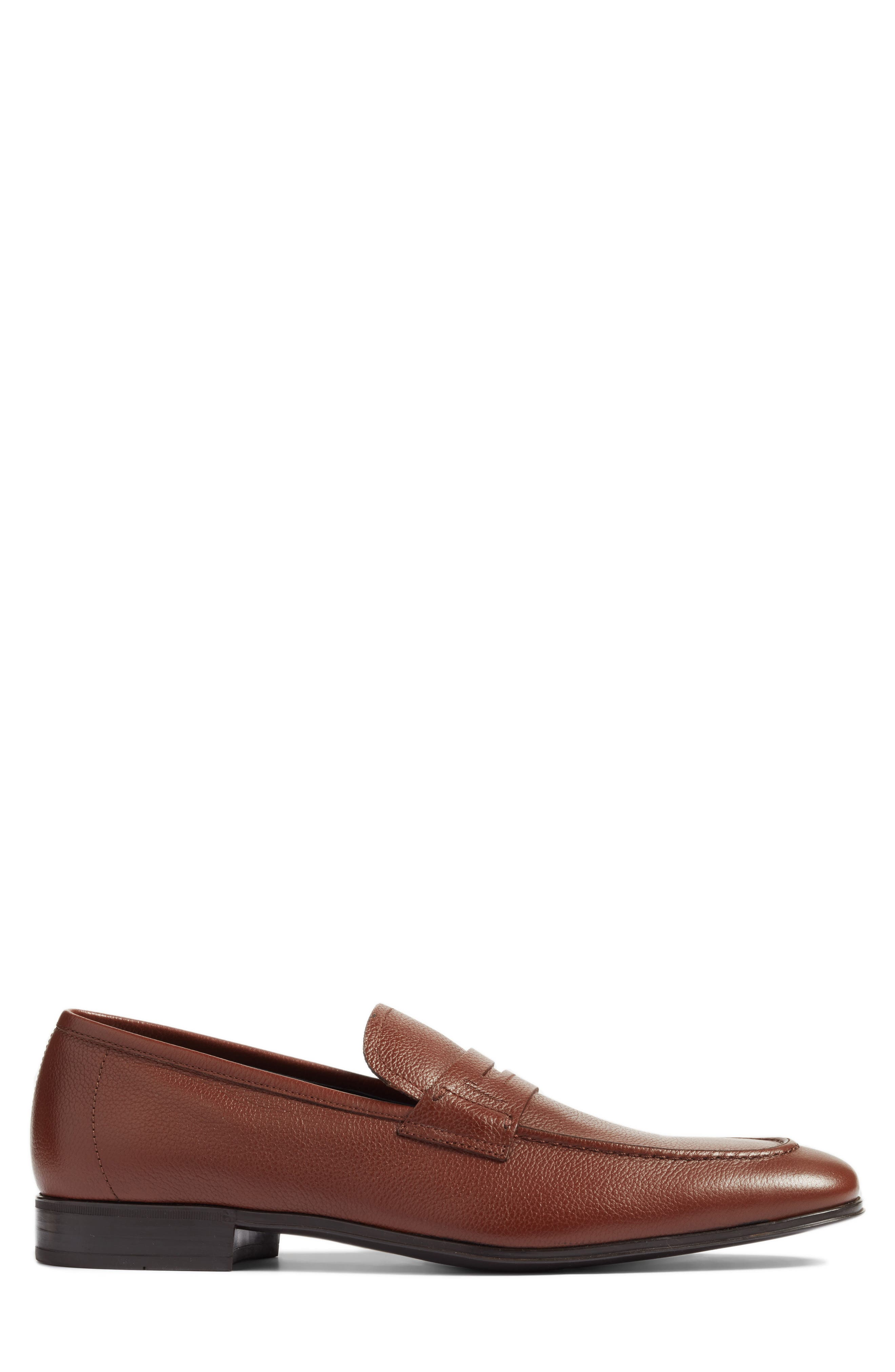 Fiorino 2 Penny Loafer,                             Alternate thumbnail 3, color,                             Dark Cuoio Leather