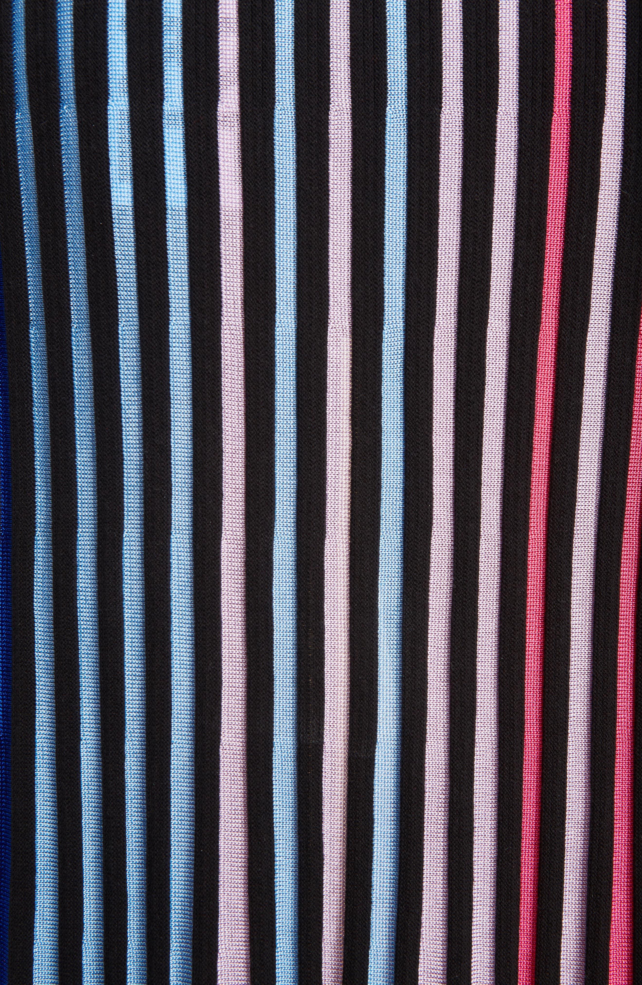 Rib Knit Flare Skirt,                             Alternate thumbnail 6, color,                             Multicolor
