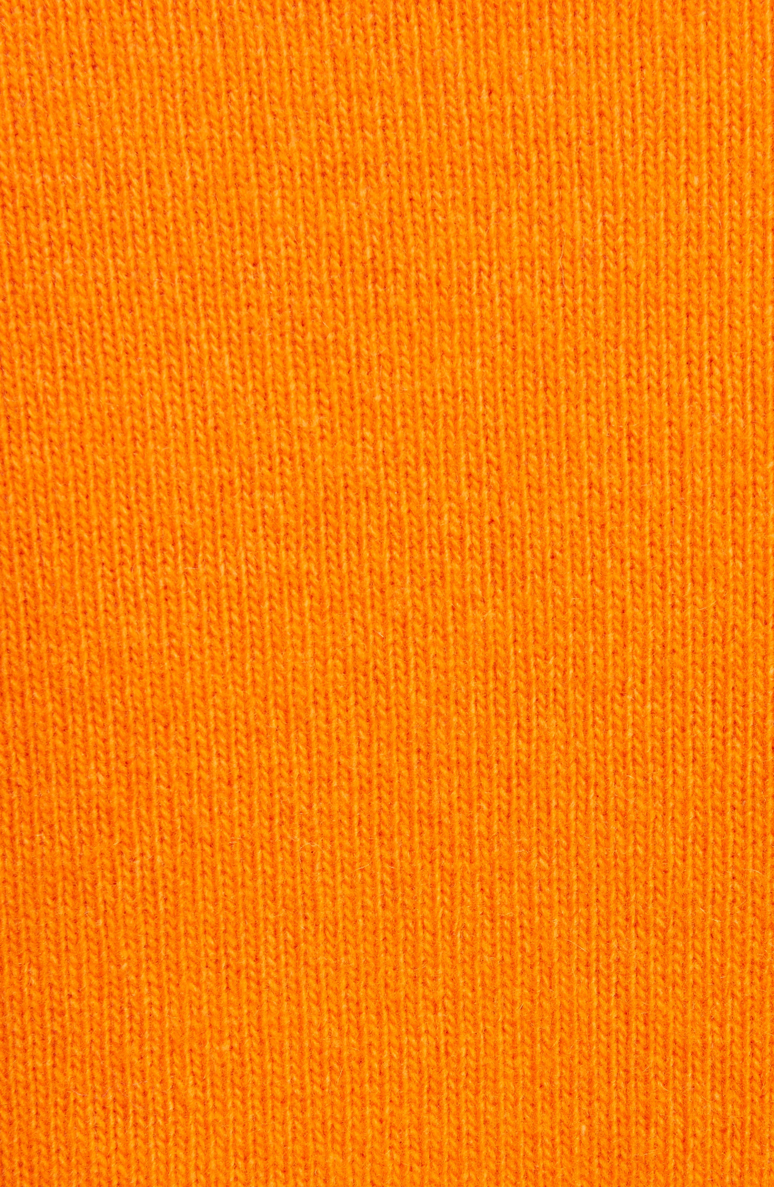 J.W.ANDERSON Multi Pocket Crewneck Sweater,                             Alternate thumbnail 3, color,                             Tangerine