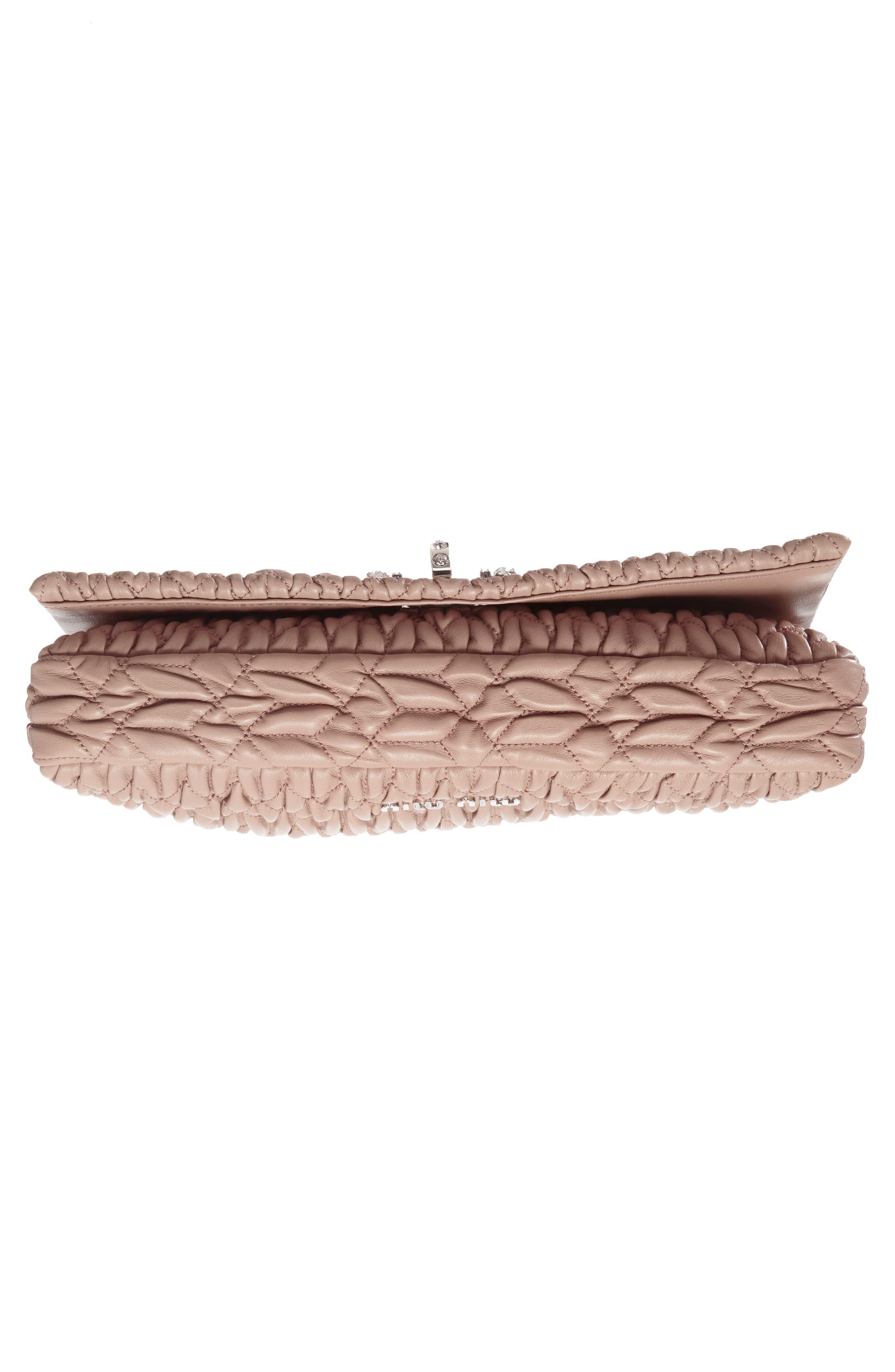 Alternate Image 5  - Miu Miu Medium Crystal Matelassé Leather Crossbody Bag