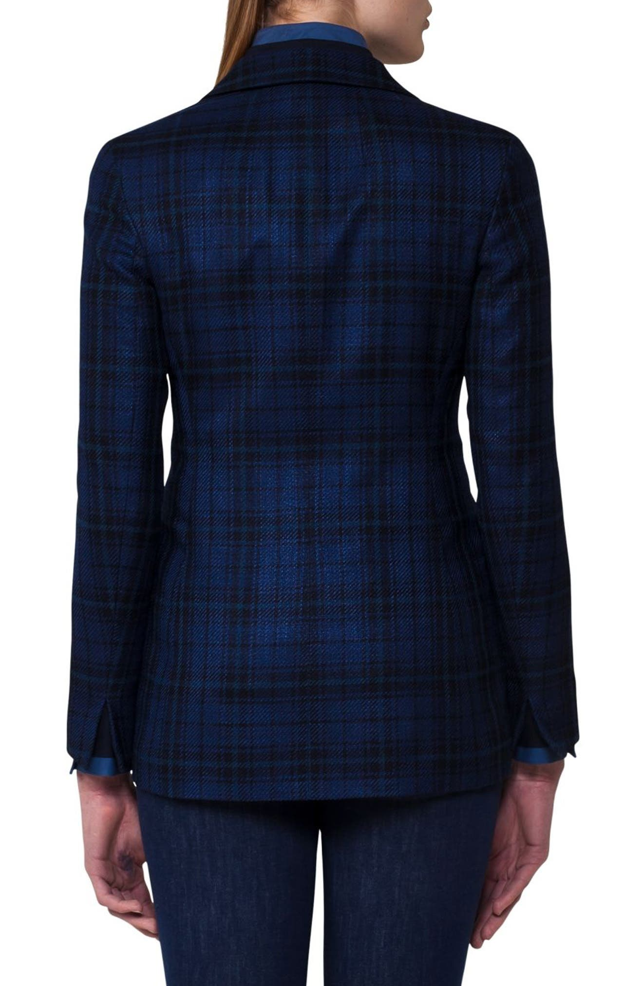 Alternate Image 2  - Akris Check Silk & Cotton Jacket