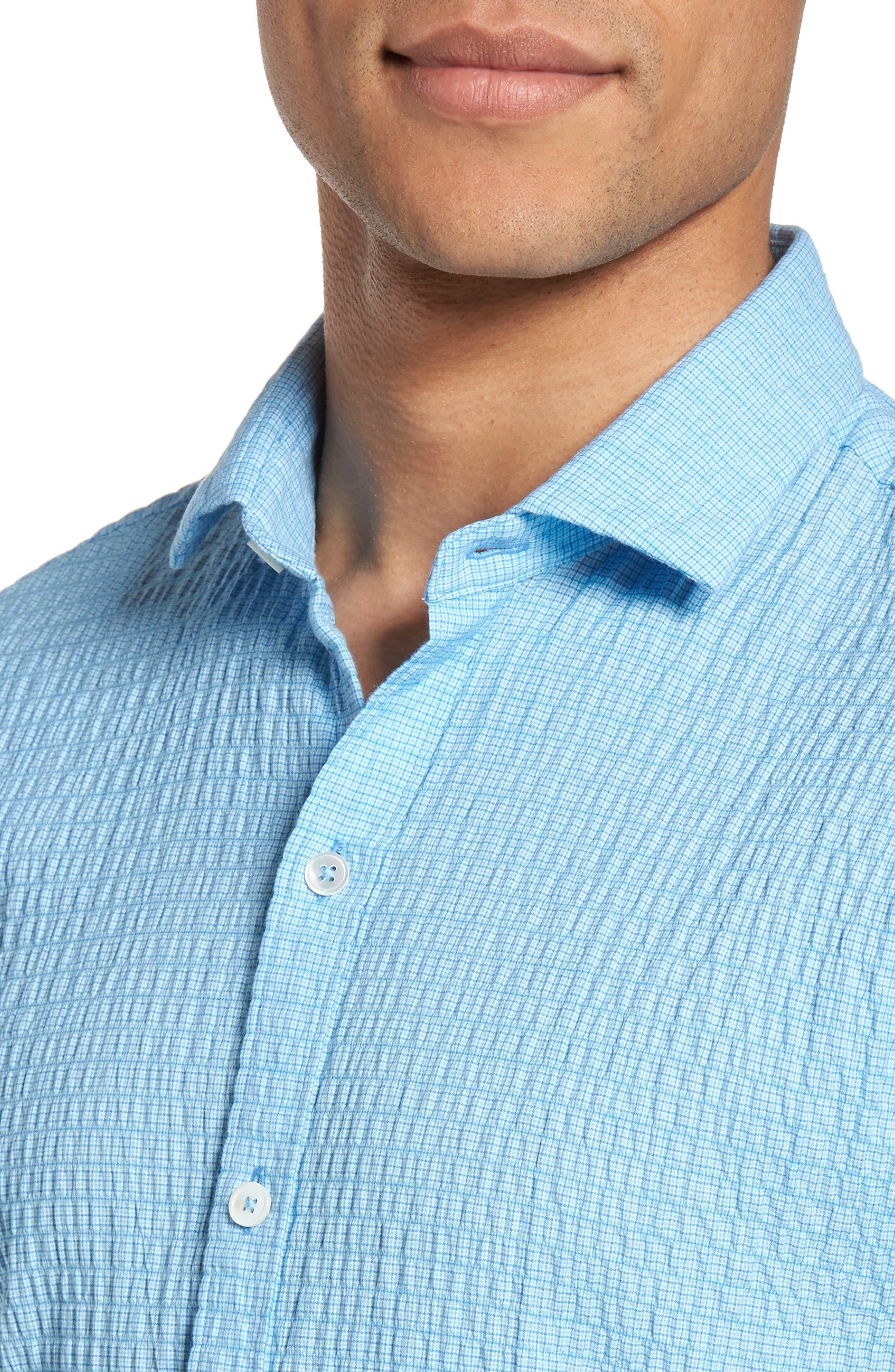 Morales Sport Shirt,                             Alternate thumbnail 4, color,                             Light Blue