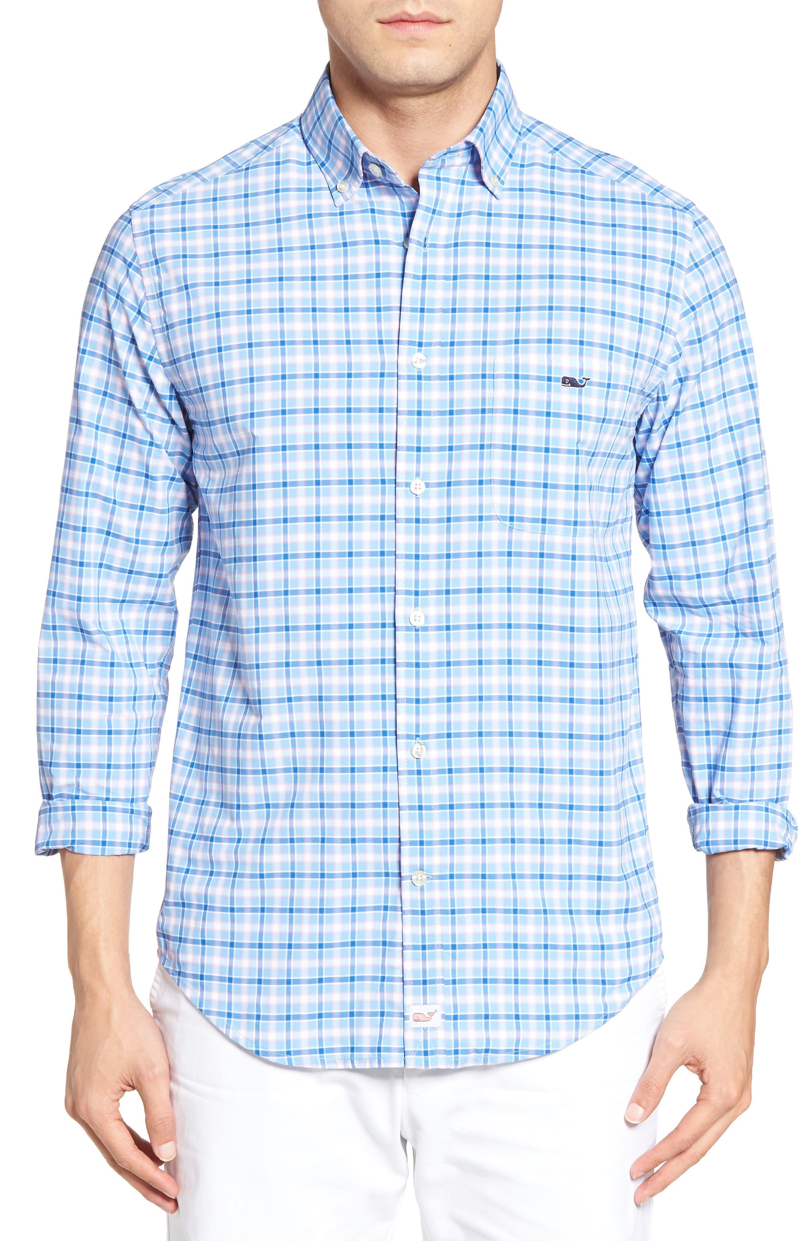 VINEYARD VINES Little Fort Tucker Classic Fit Check Sport Shirt