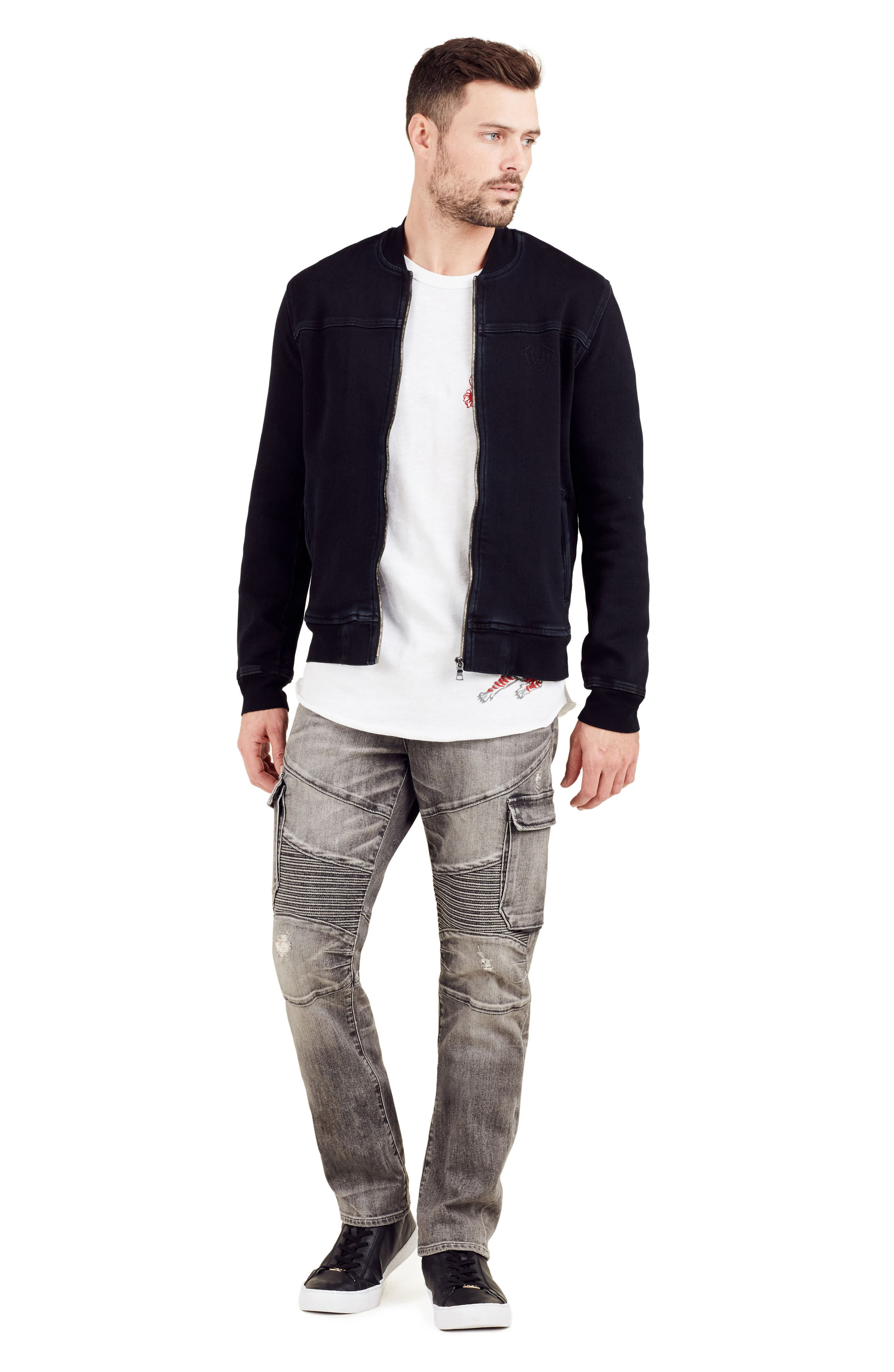 Alternate Image 7  - True Religion Brand Jeans Overdyed Bomber Jacket
