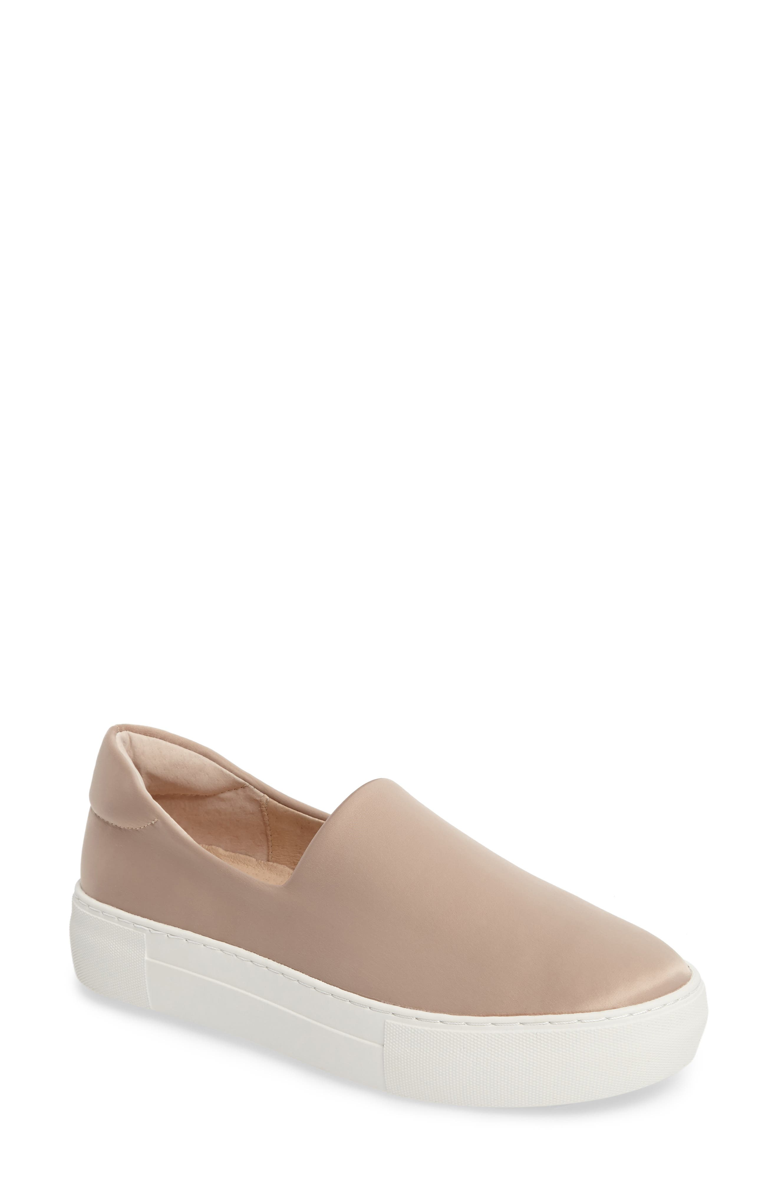 Abba Slip-On Platform Sneaker,                         Main,                         color, Champagne Satin