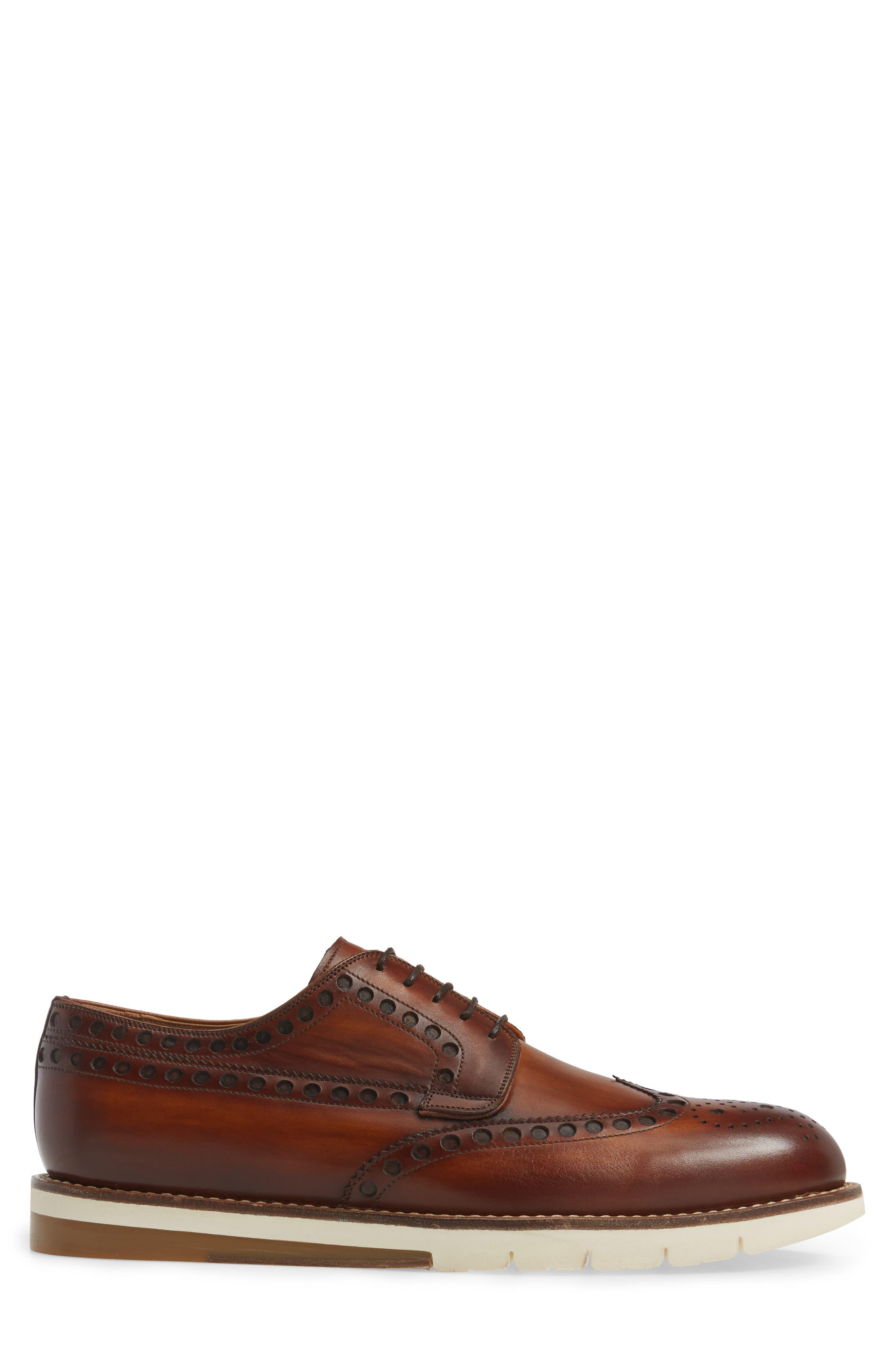Stefano Wingtip,                             Alternate thumbnail 3, color,                             Cuero Leather