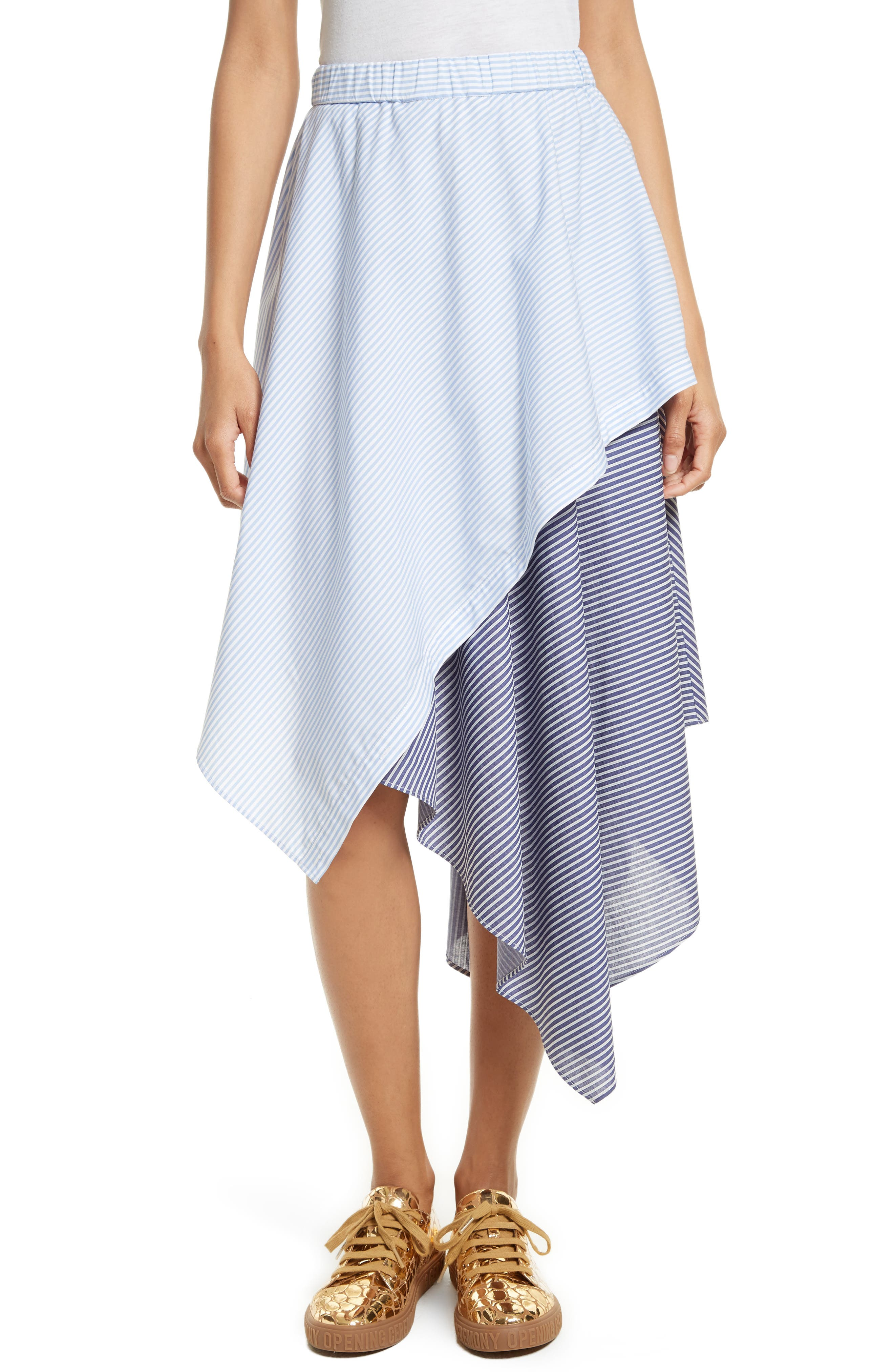 Opening Ceremony Cody Stripe Asymmetrical Skirt