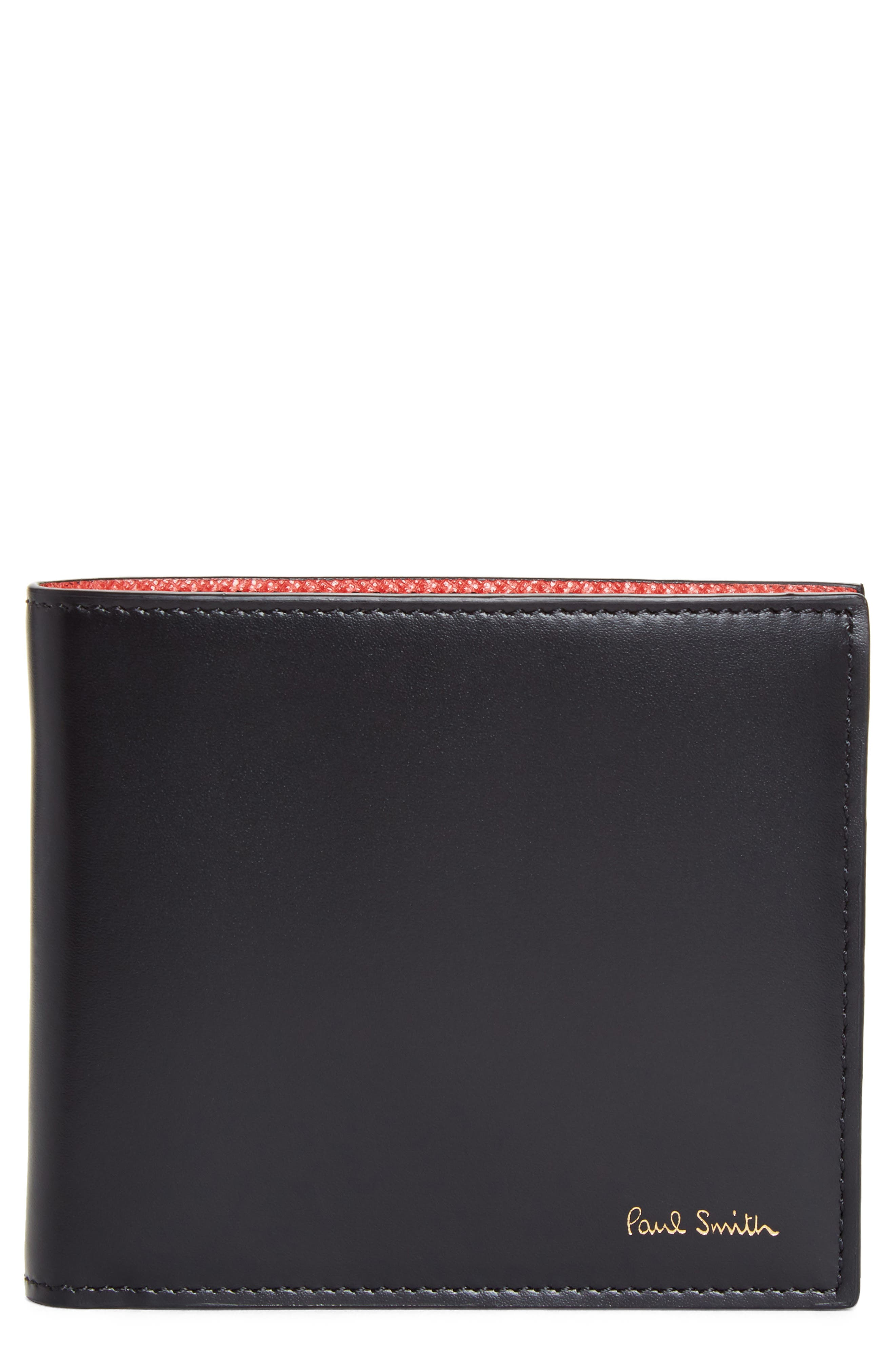 Alternate Image 1 Selected - Paul Smith Leopard Print Billfold Wallet
