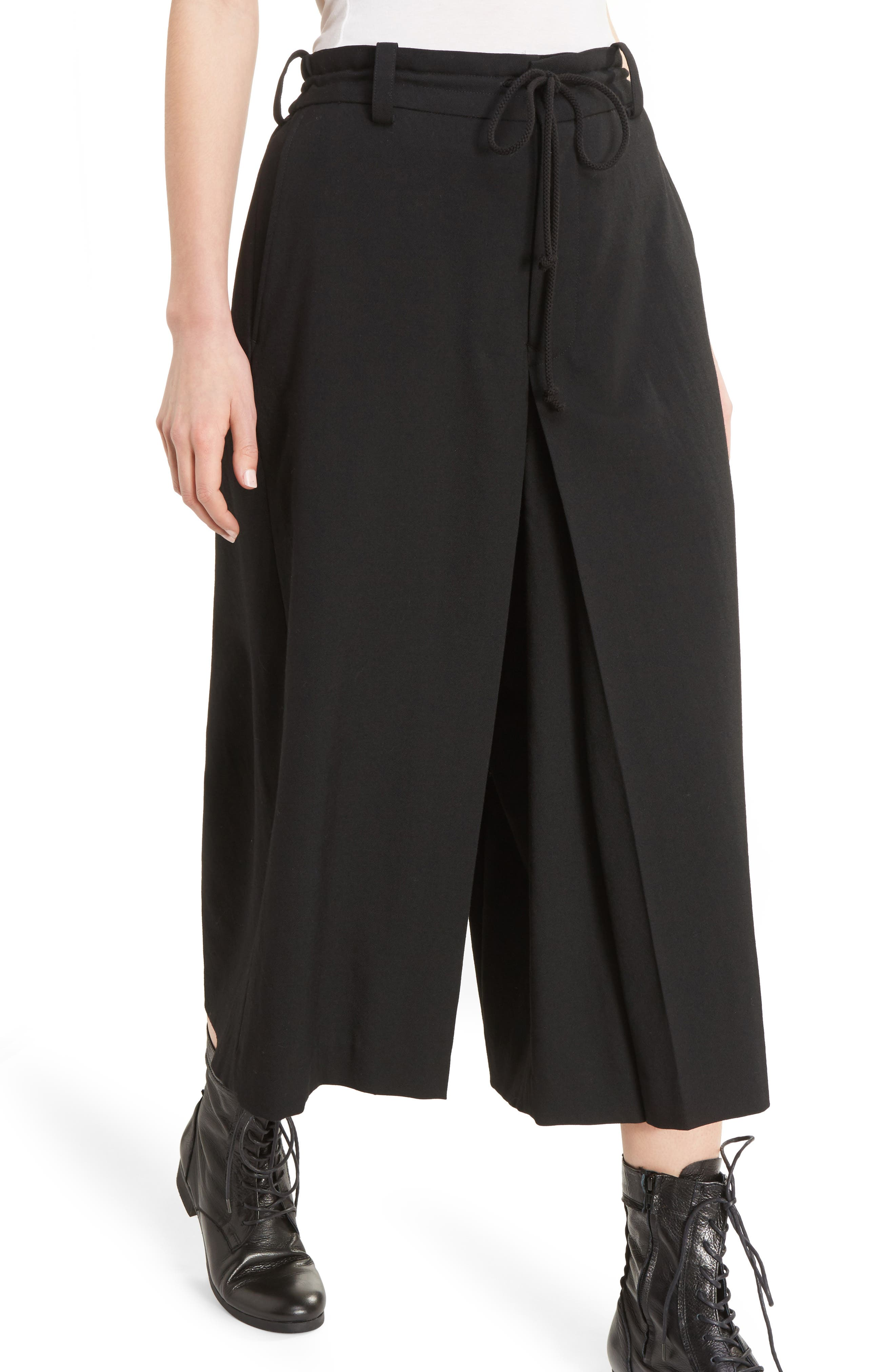 Alternate Image 5  - Y's by Yohji Yamamoto G-Gusset Tuck Front Wide Leg Pants
