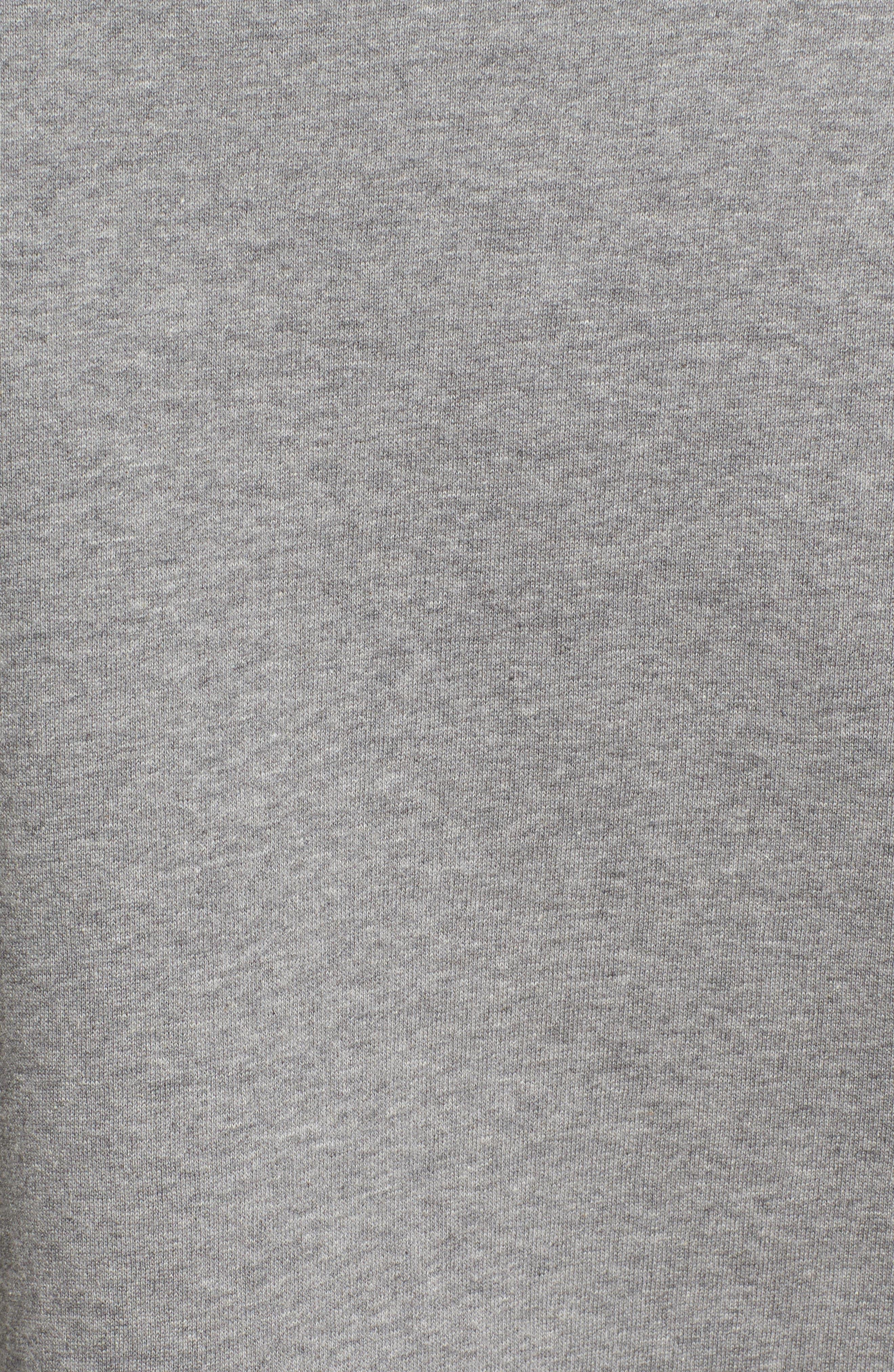 être cécile Music Face Boyfriend Sweatshirt,                             Alternate thumbnail 5, color,                             Medium Grey Marled