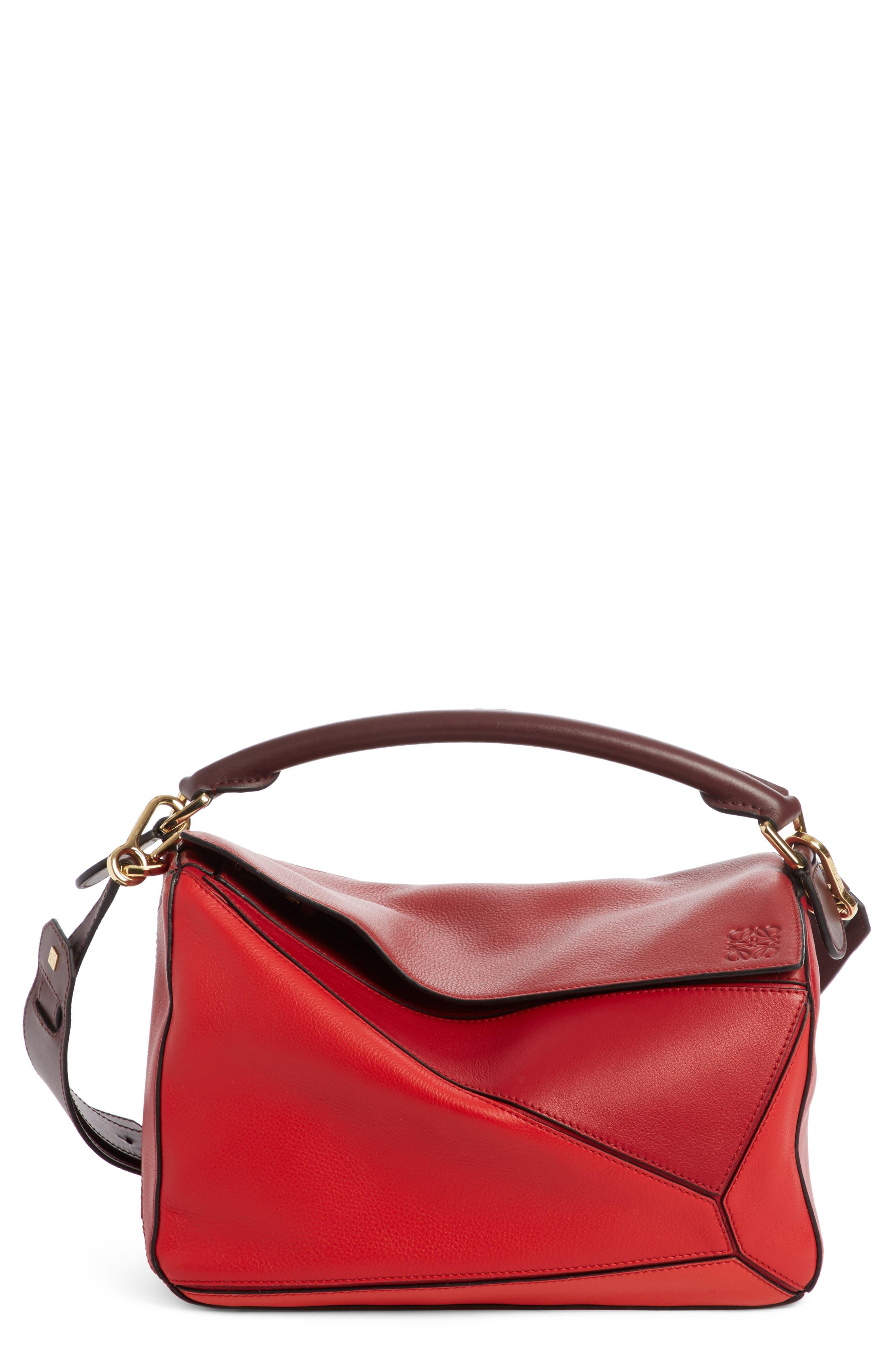 LOEWE Medium Puzzle Colorblock Leather Shoulder Bag