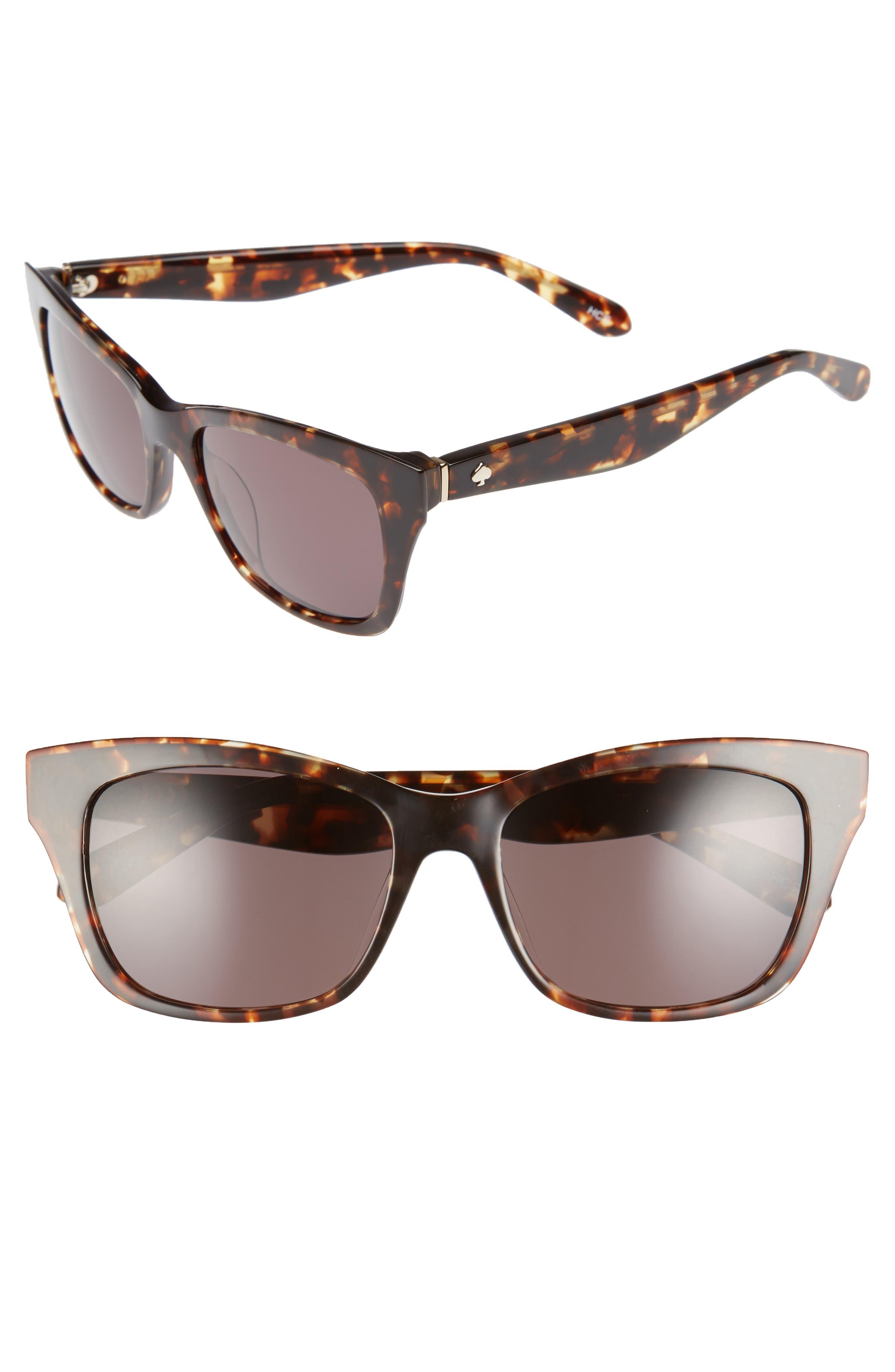 jenae 53mm sunglasses,                         Main,                         color, Brown Havana