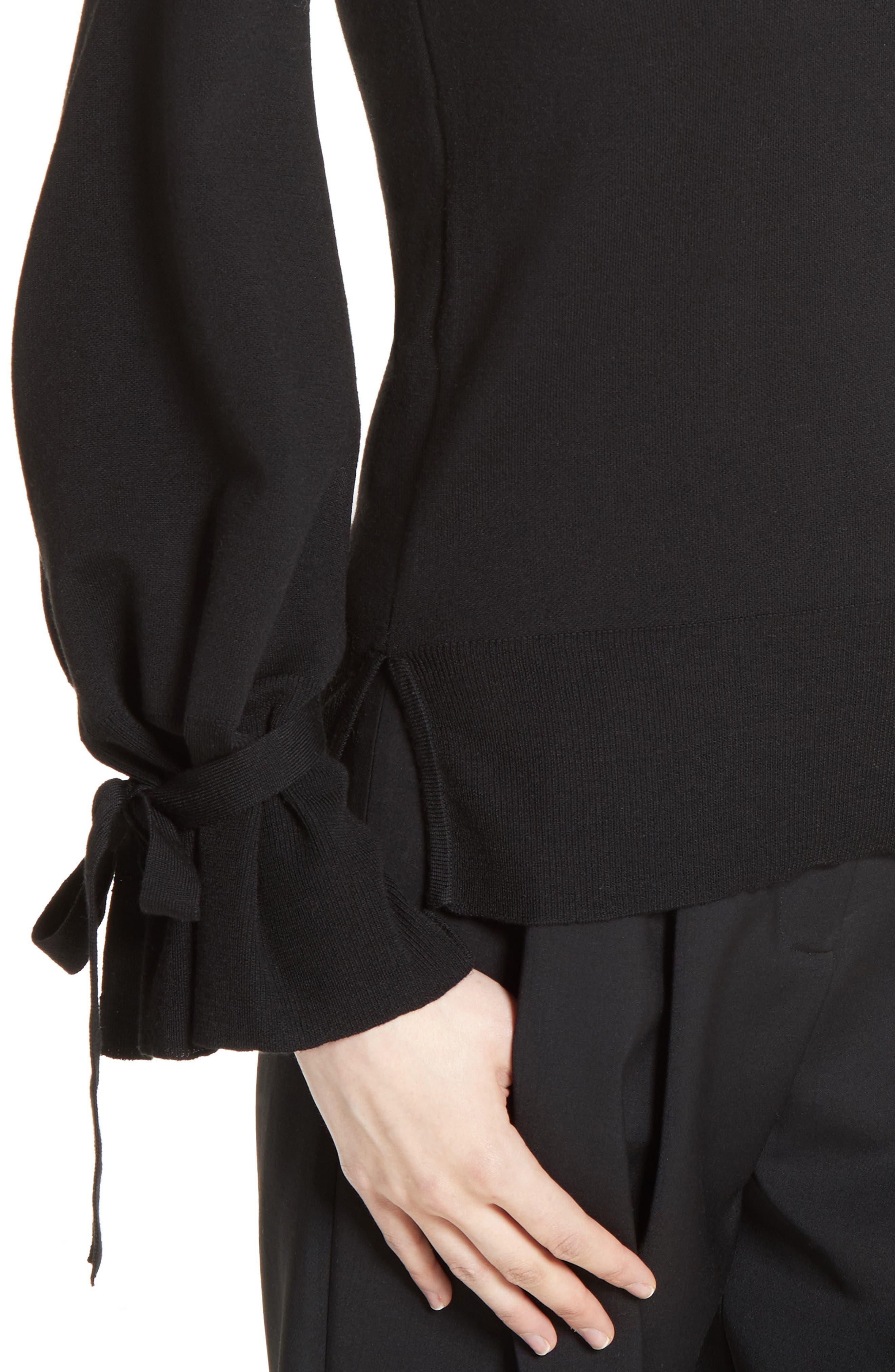 Alternate Image 6  - Adam Lippes Merino Wool Bell Sleeve Sweater