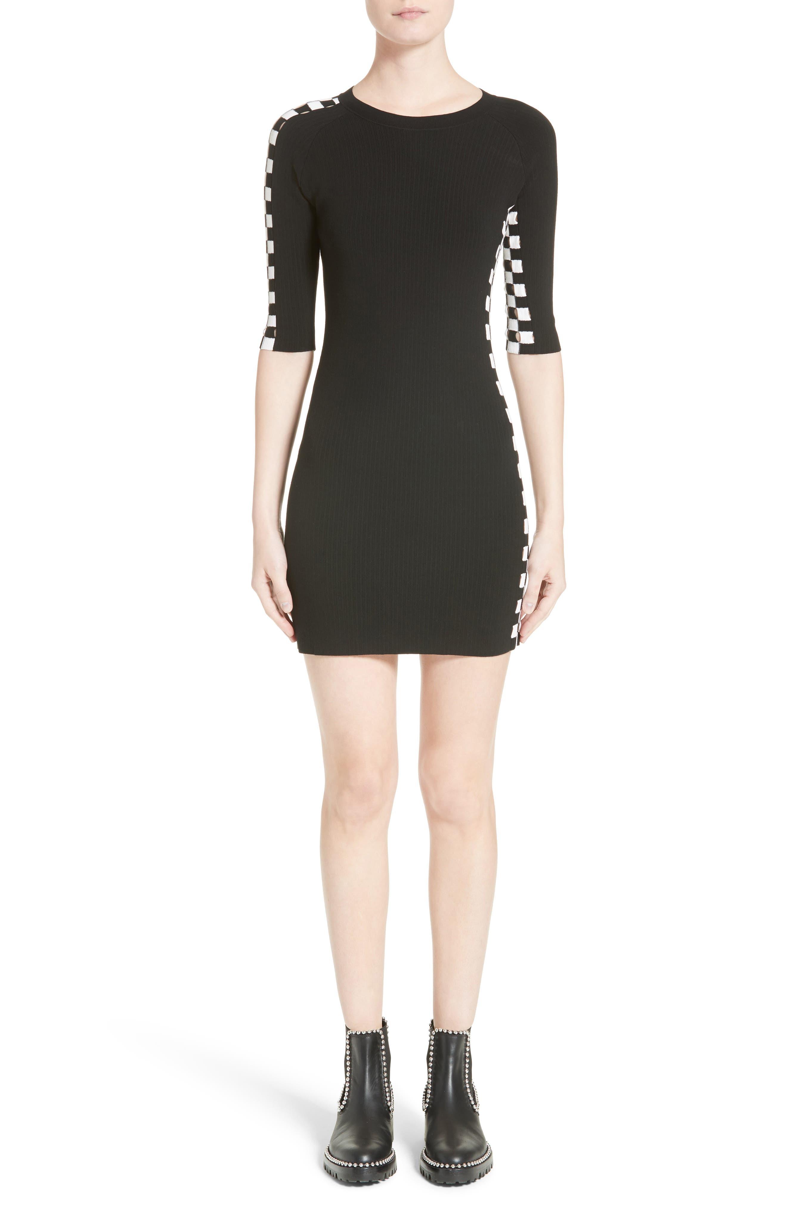 Alexander Wang Intarsia Check Knit Dress