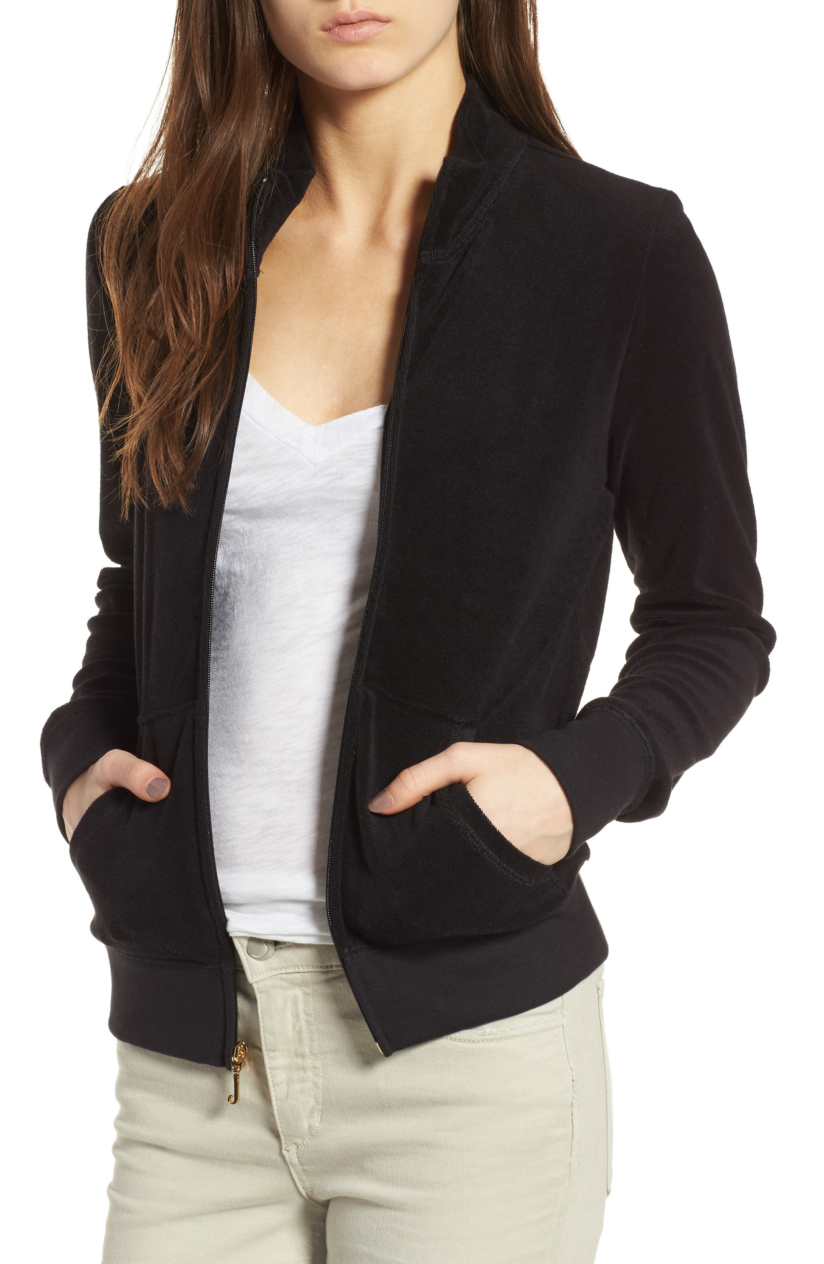 Main Image - Juicy Couture Fairfax Terry Track Jacket