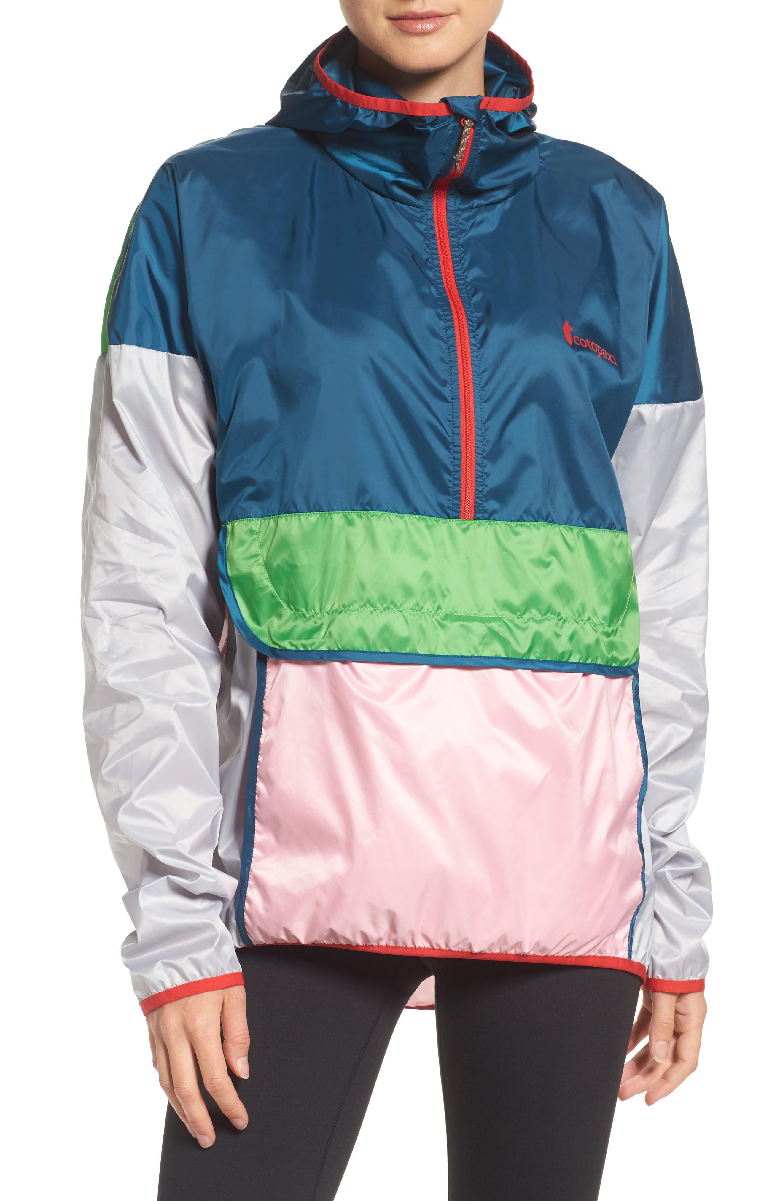 Teca Packable Water Resistant Windbreaker Jacket,                         Main,                         color, Freshy Fresh