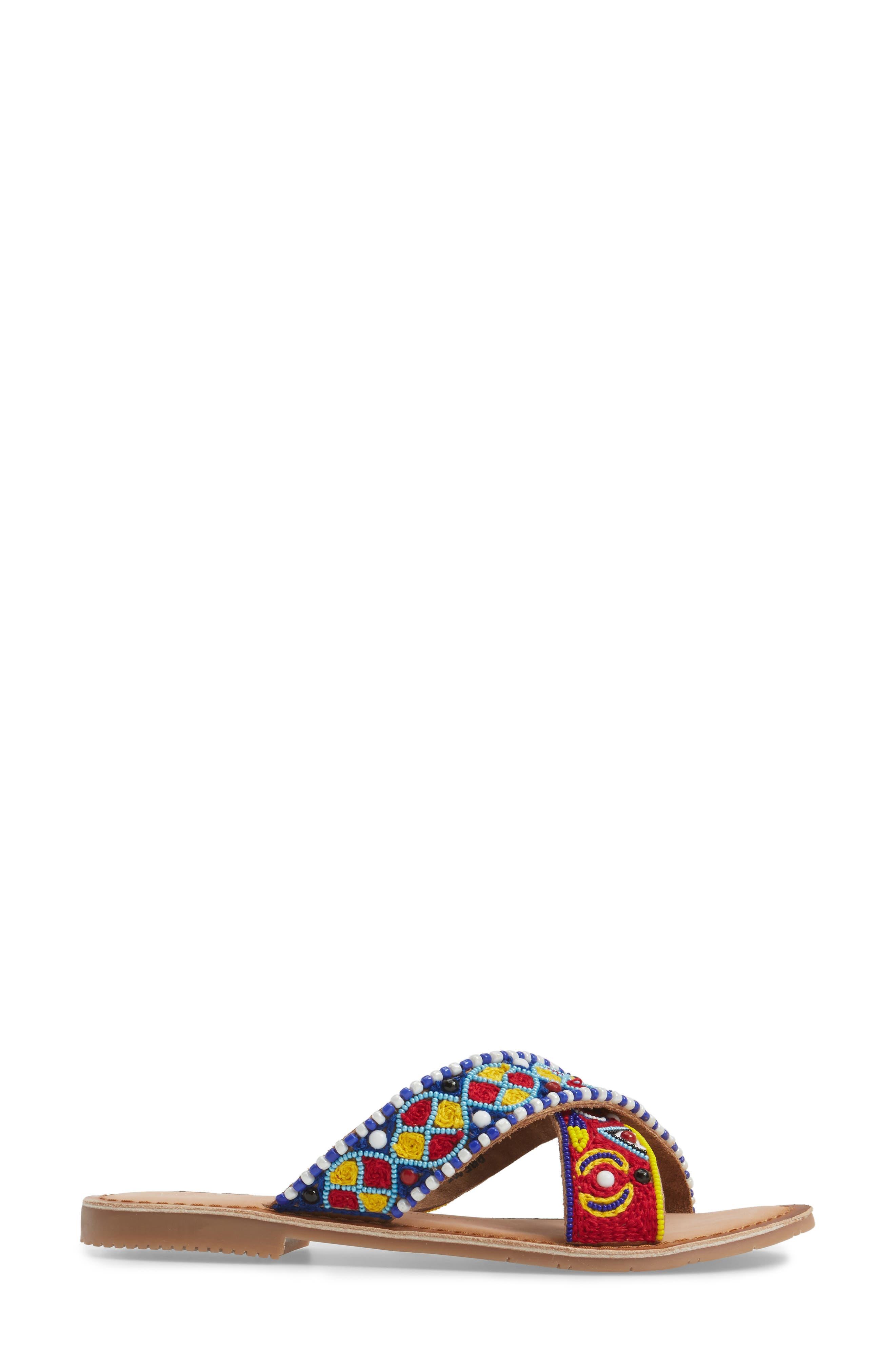 Purfect Slide Sandal,                             Alternate thumbnail 3, color,                             Cognac