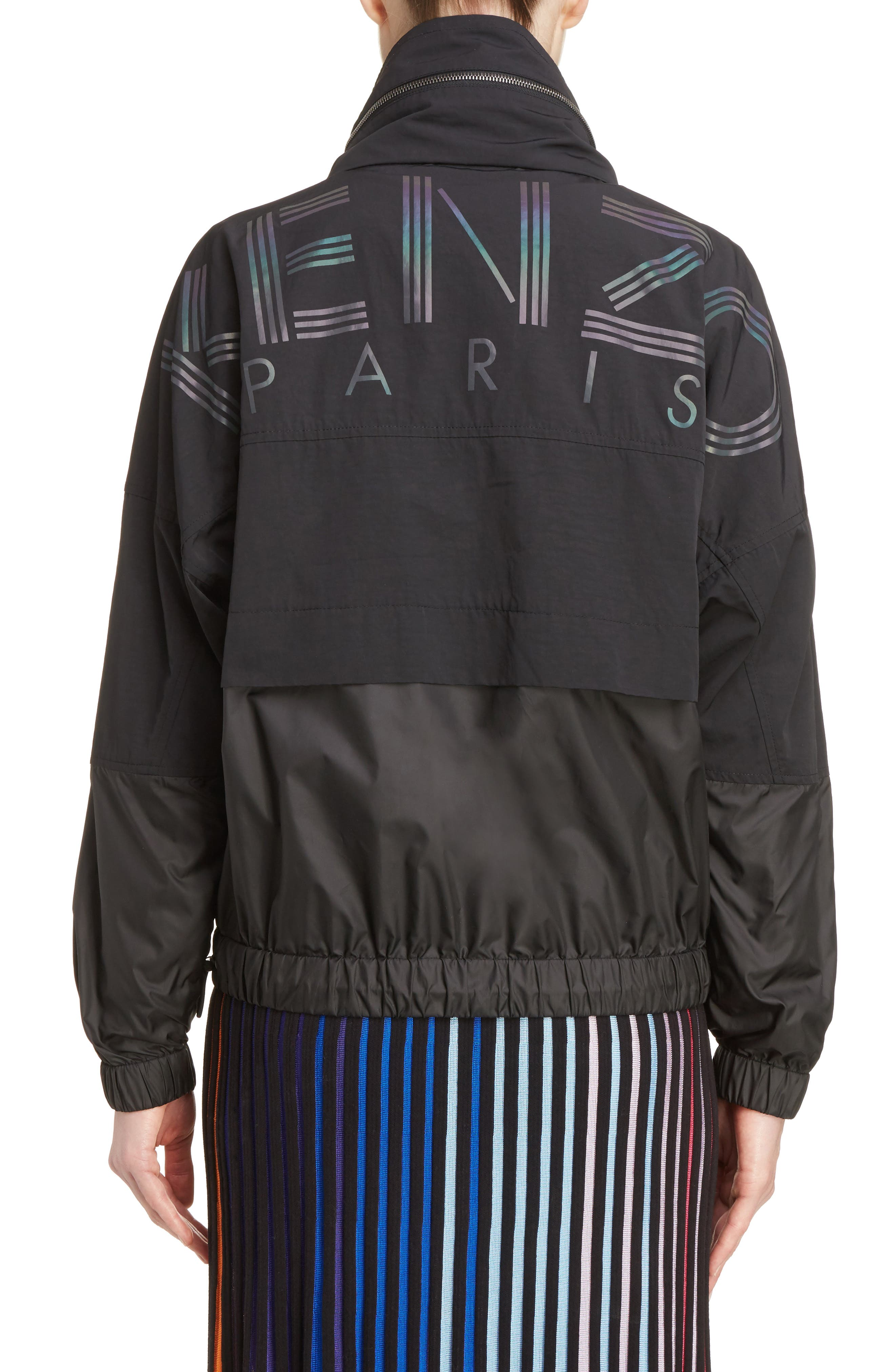 Windbreaker,                             Alternate thumbnail 3, color,                             Black