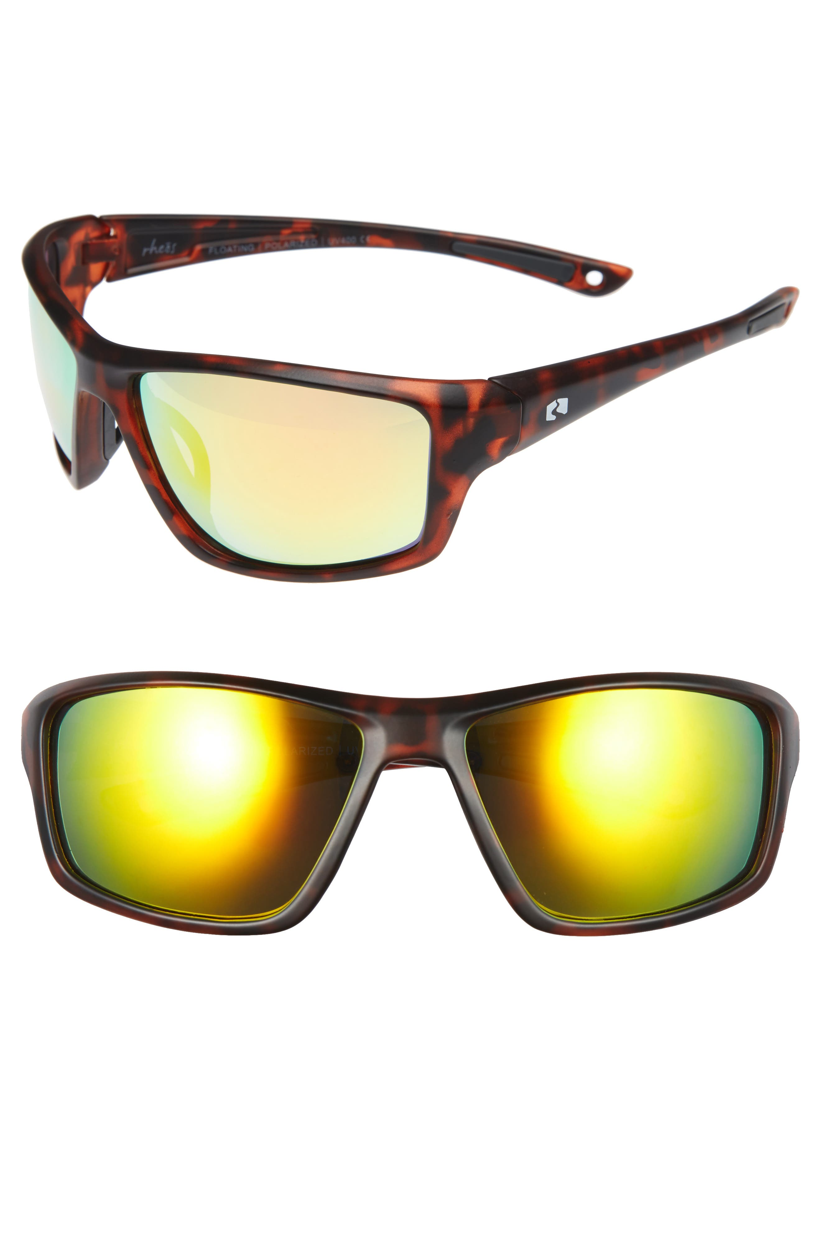 Eddies Floating 58mm Polarized Sunglasses,                         Main,                         color, Tortoise/ Sunset