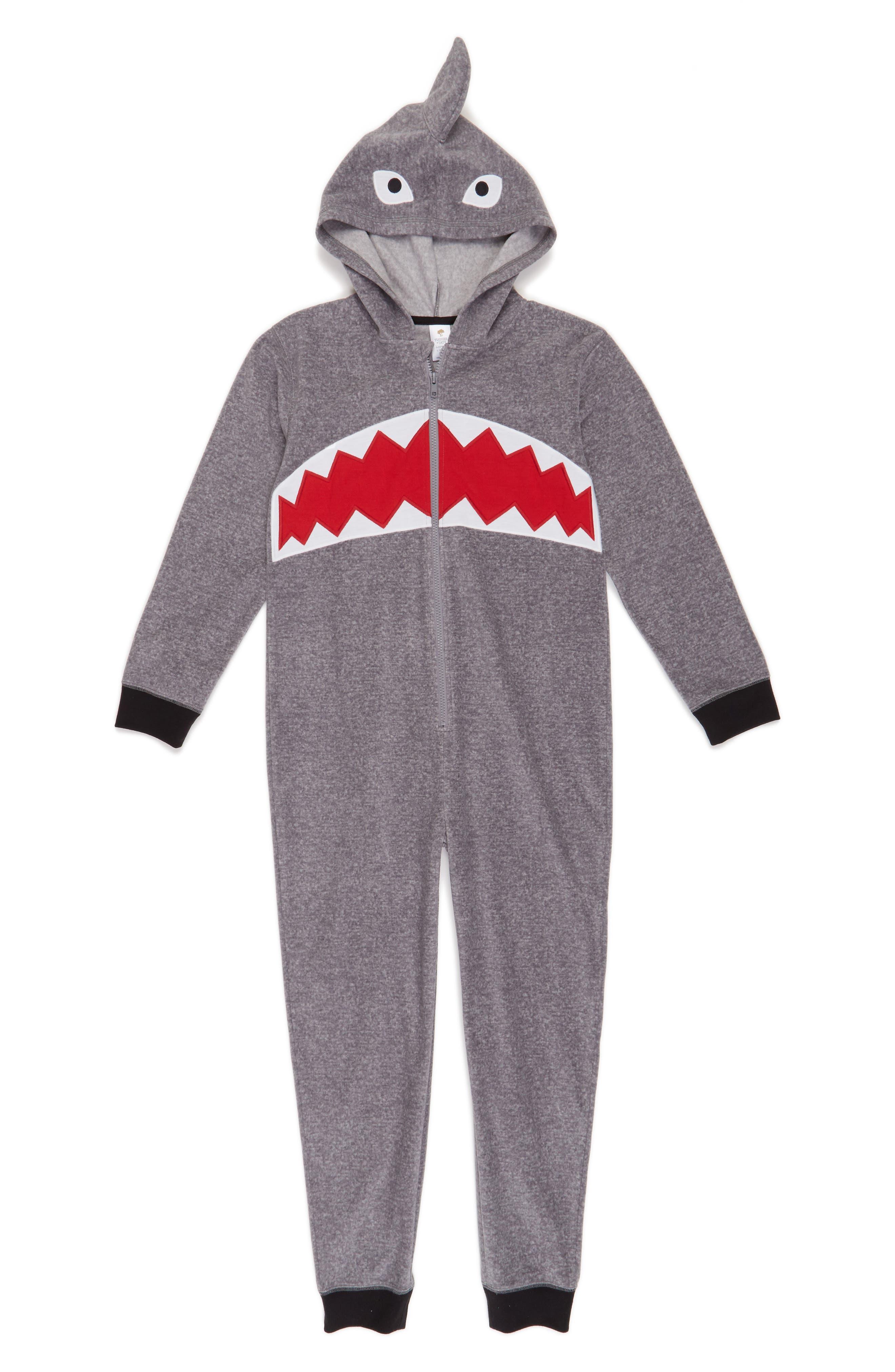 Alternate Image 1 Selected - Tucker + Tate Shark One-Piece Pajamas (Little Boys & Big Boys)