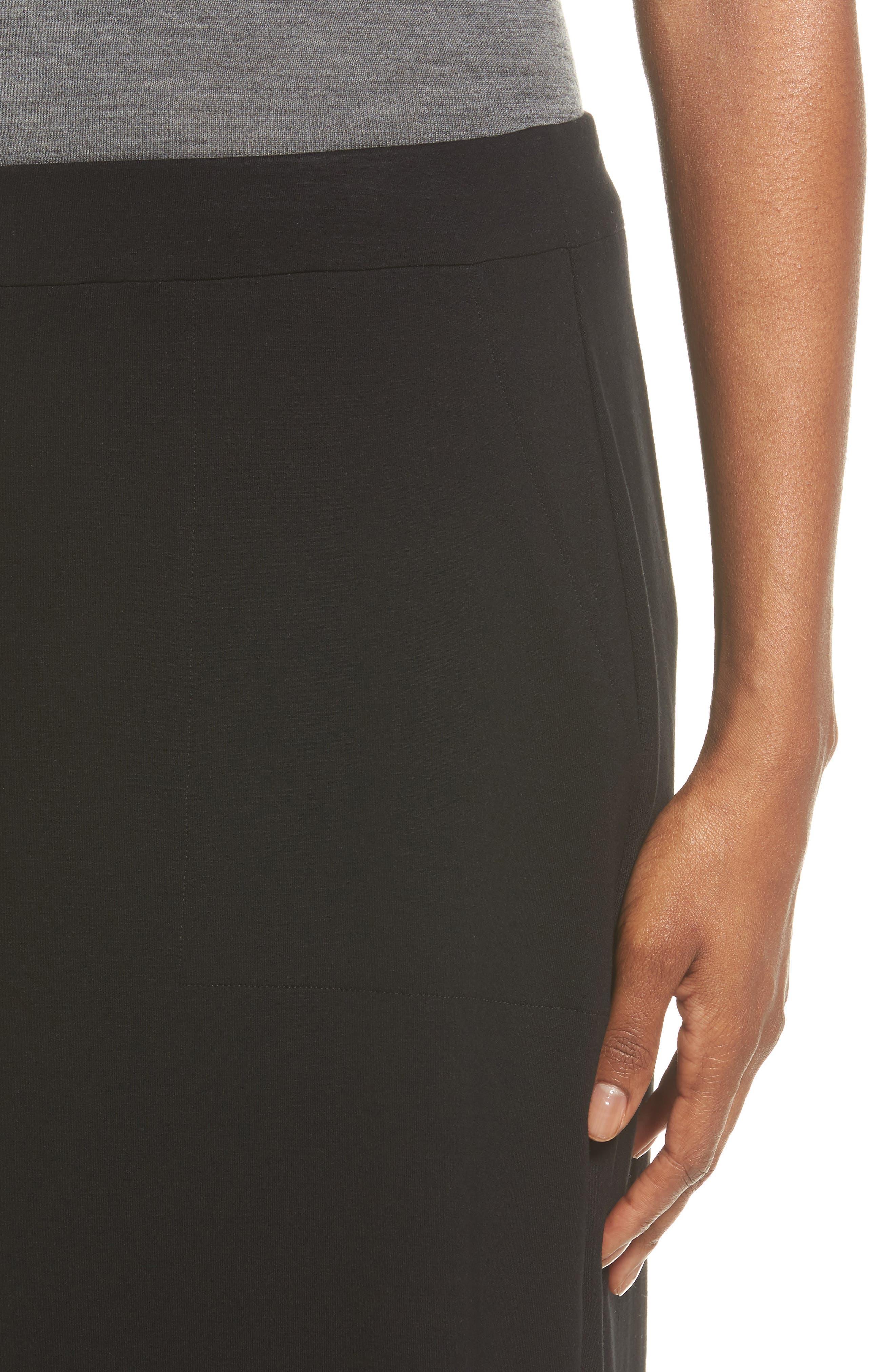 Alternate Image 4  - Eileen Fisher Side Slit Jersey Skirt
