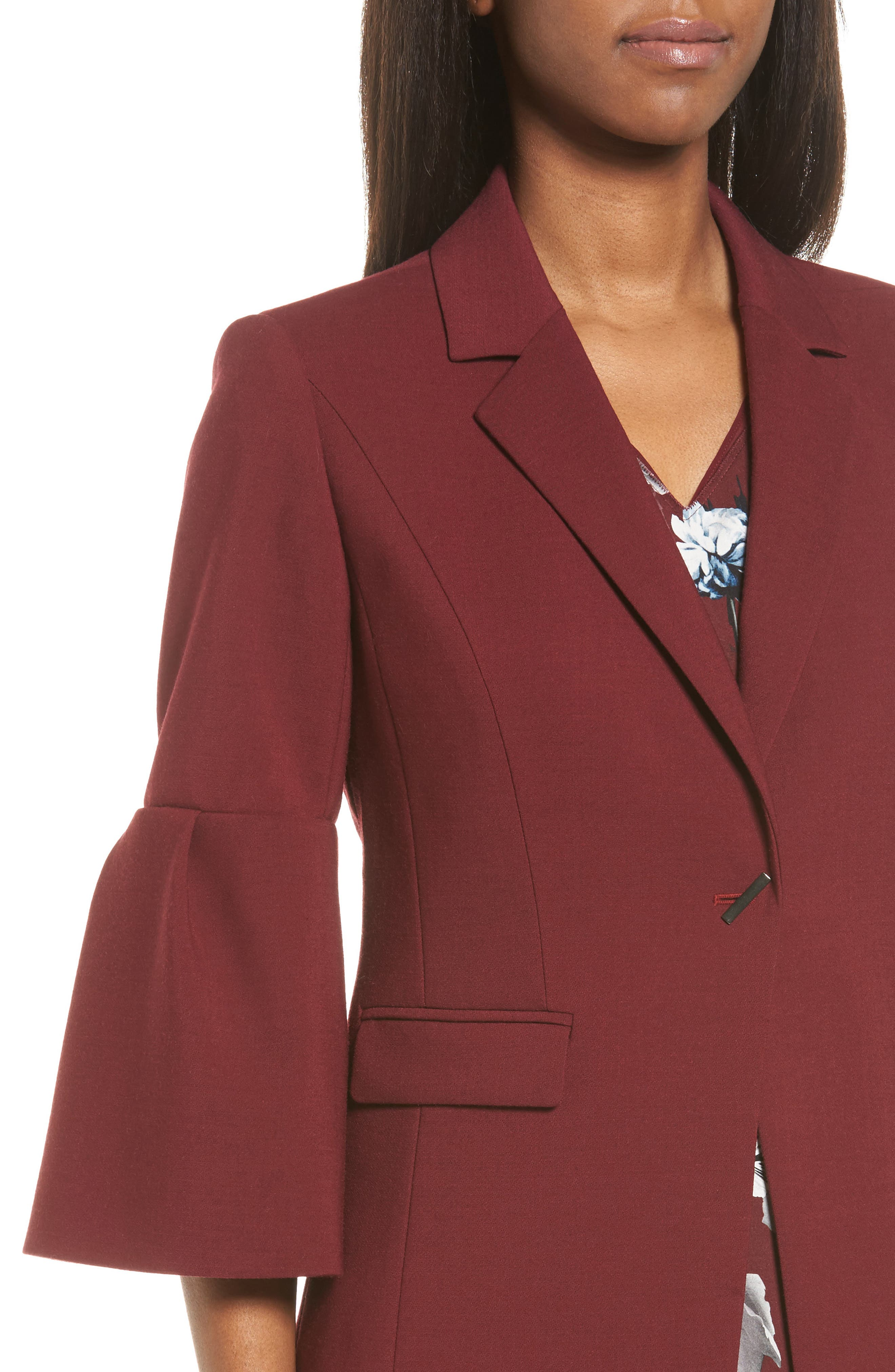 Alternate Image 4  - Classiques Entier® Bell Sleeve Wool Blend Jacket