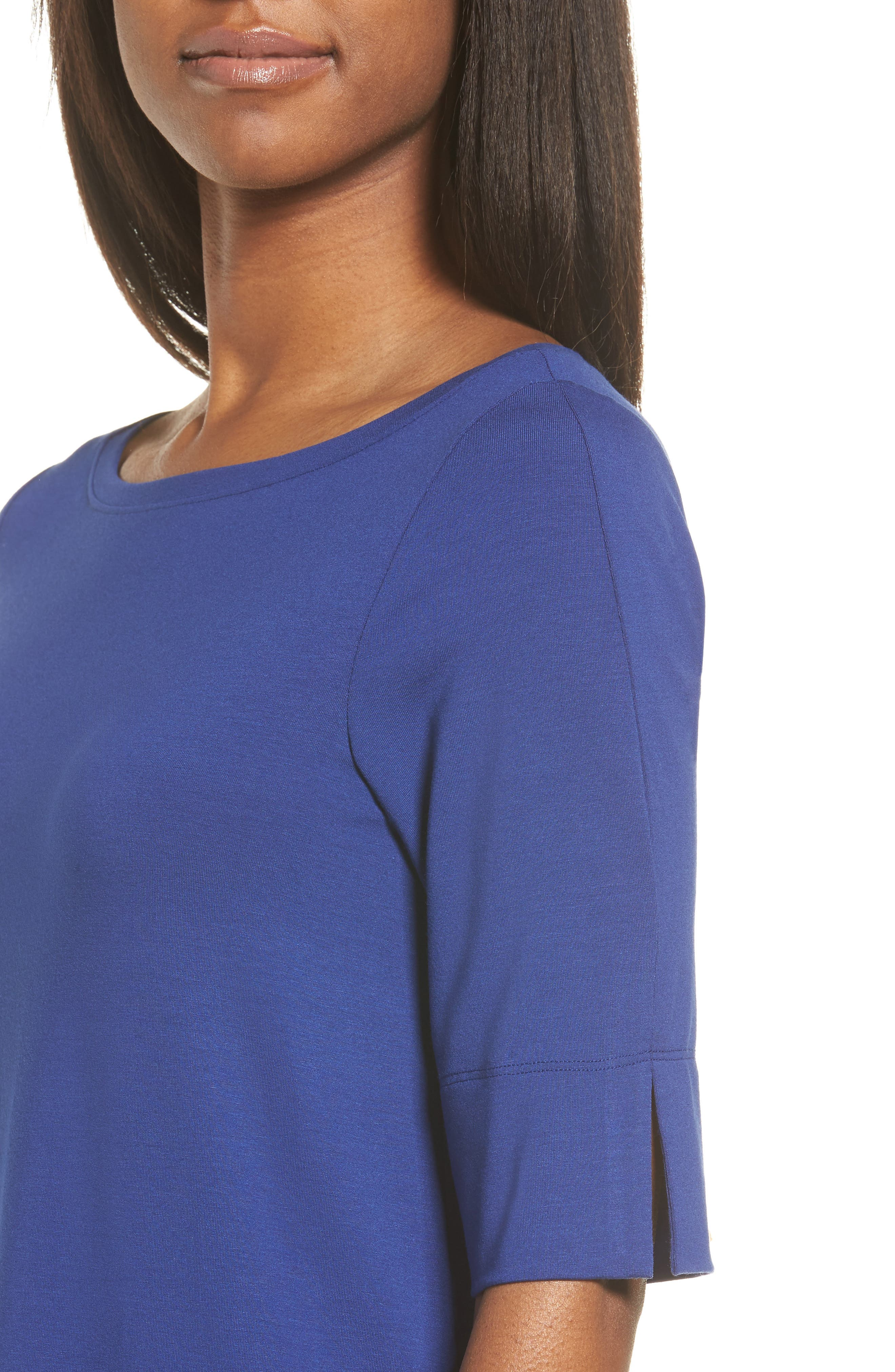 Jersey Shift Dress,                             Alternate thumbnail 5, color,                             Persian Blue