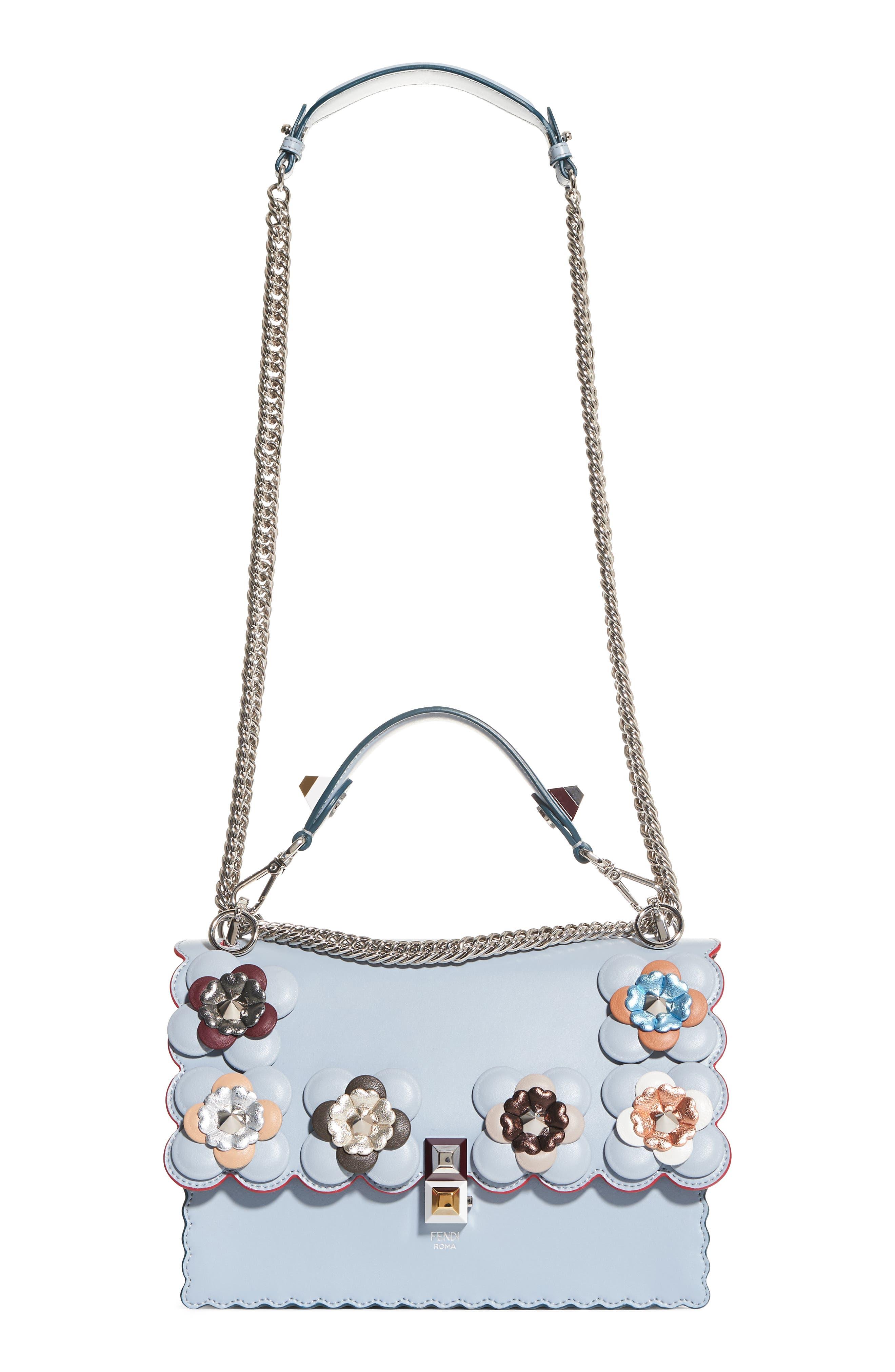 Main Image - Fendi Kan I Liberty Leather Shoulder Bag