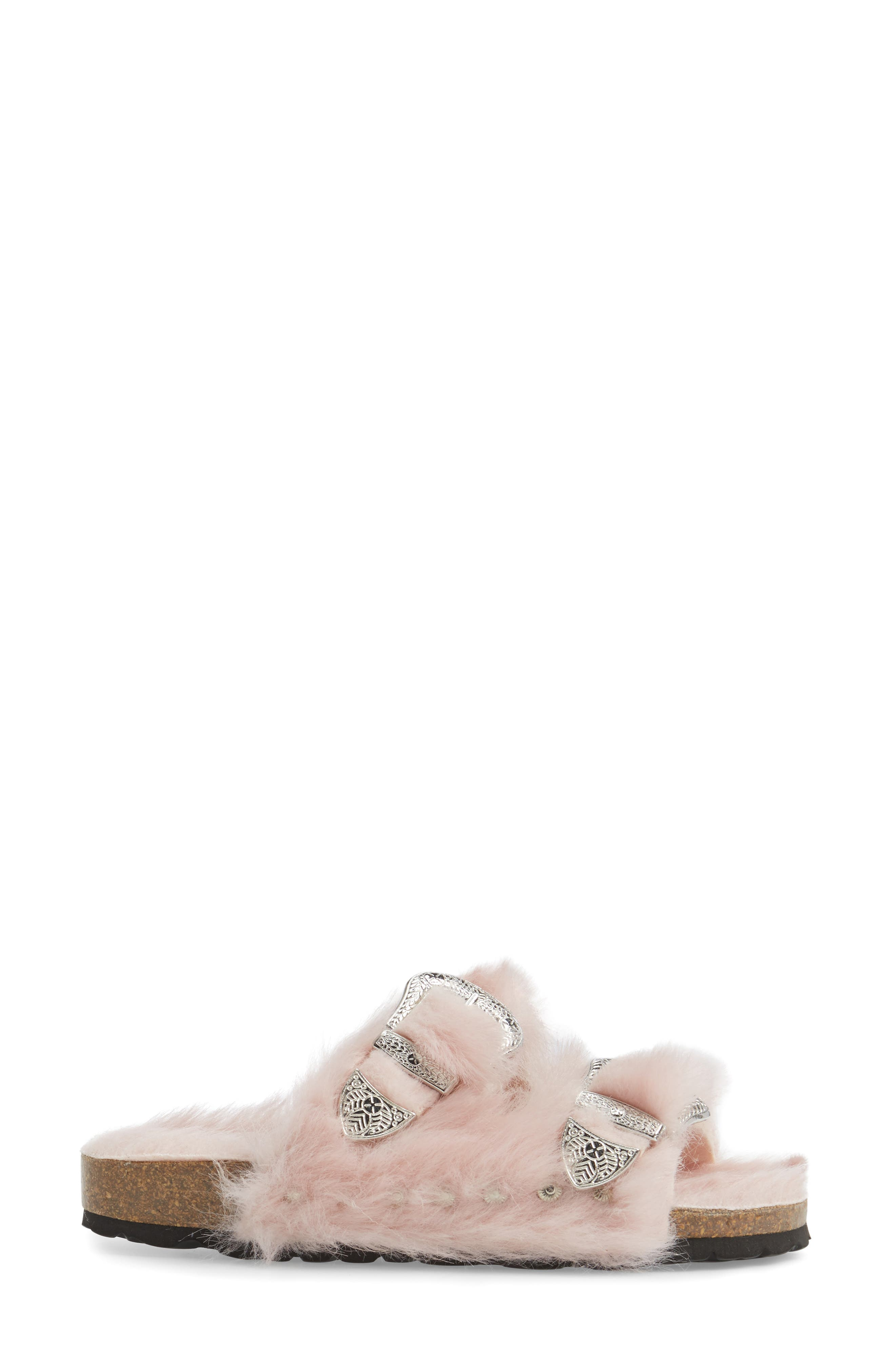 Alternate Image 3  - Topshop Falcon Faux Fur Slide Sandal (Women)