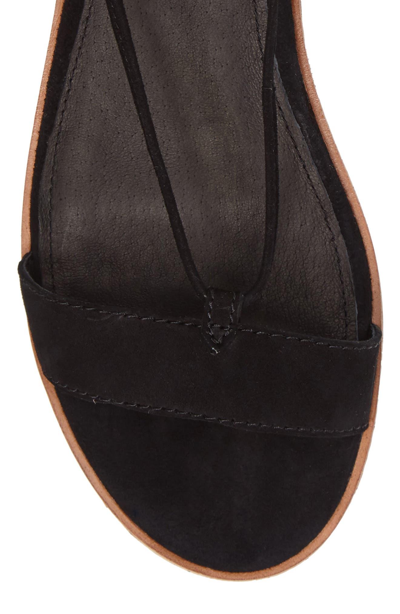 Miranda Gladiator Platform Sandal,                             Alternate thumbnail 5, color,                             Black Suede