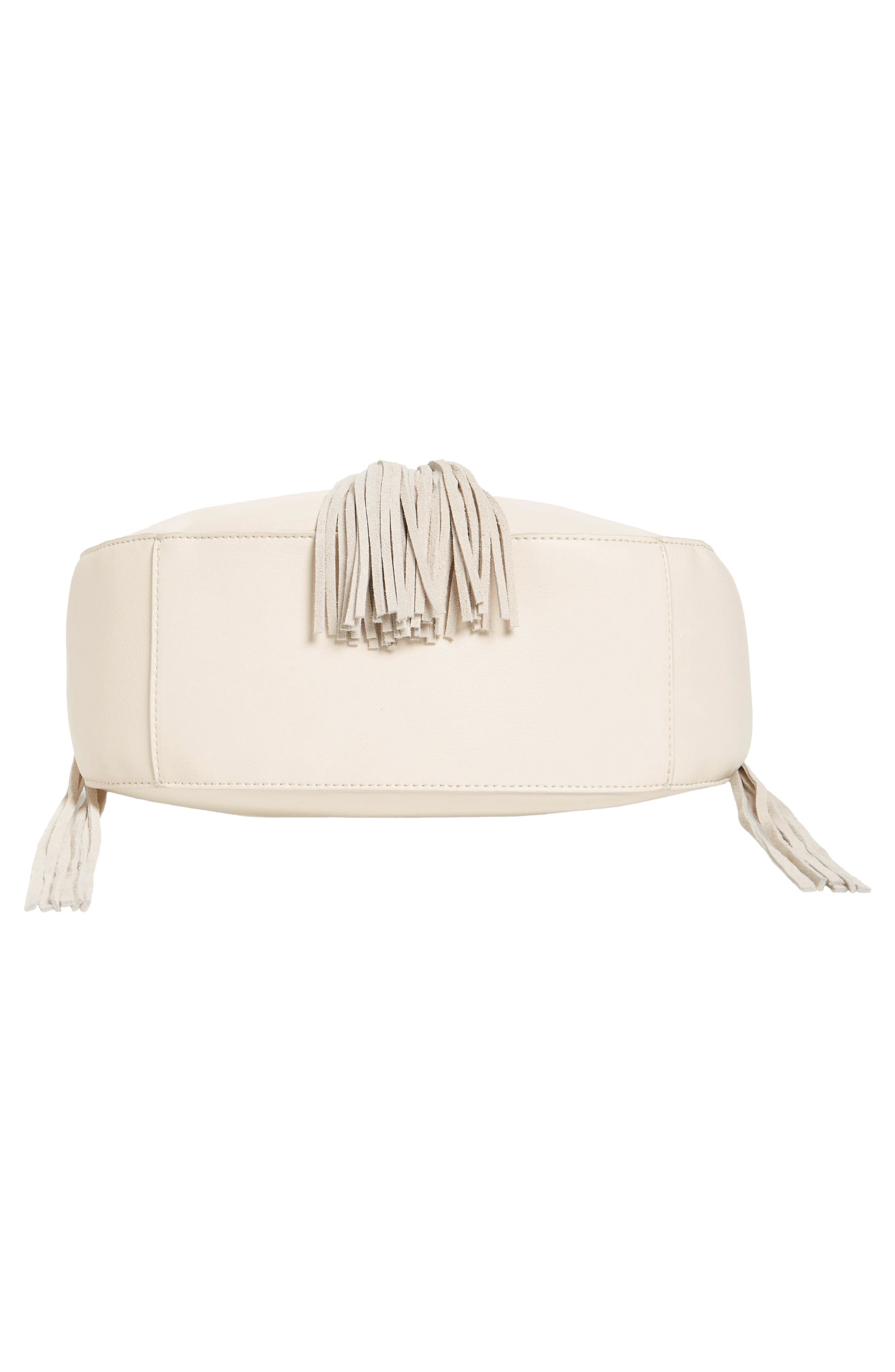 Alternate Image 6  - Phase 3 Lace-Up Tassel Faux Leather Hobo