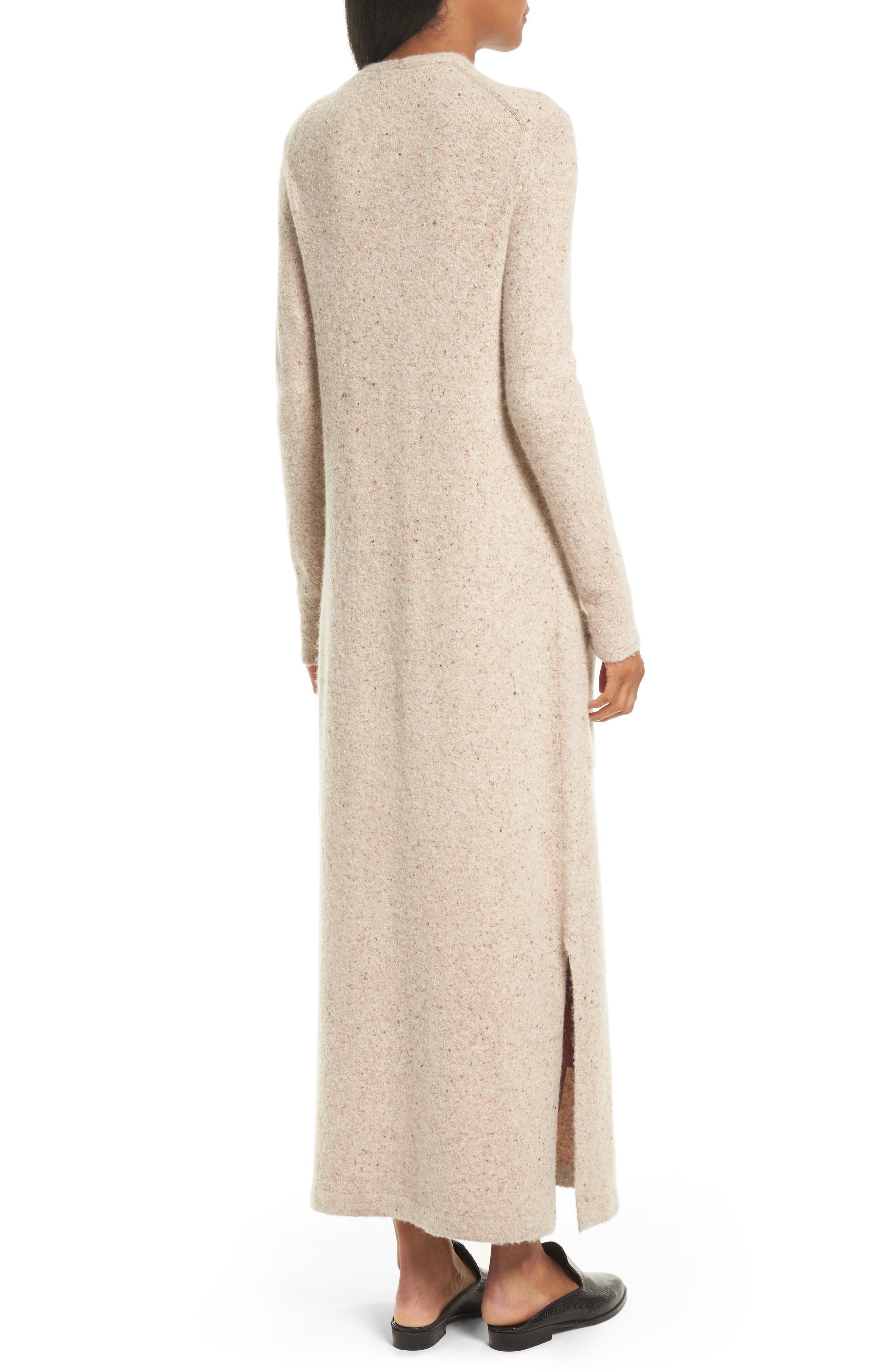 Torina Donegal Longline Cardigan,                             Alternate thumbnail 3, color,                             Oat Multi