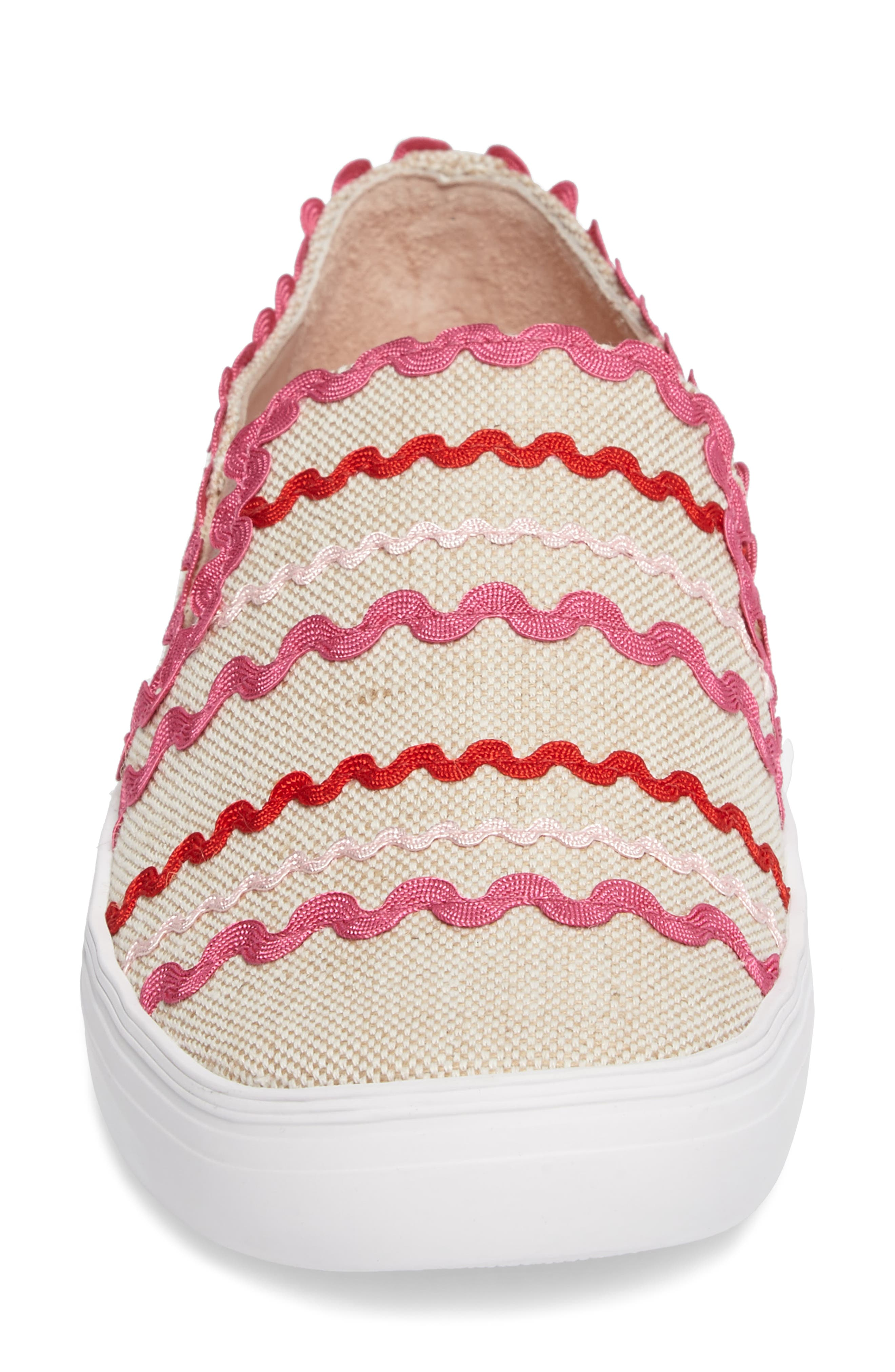 senza slip-on sneaker,                             Alternate thumbnail 4, color,                             Natural