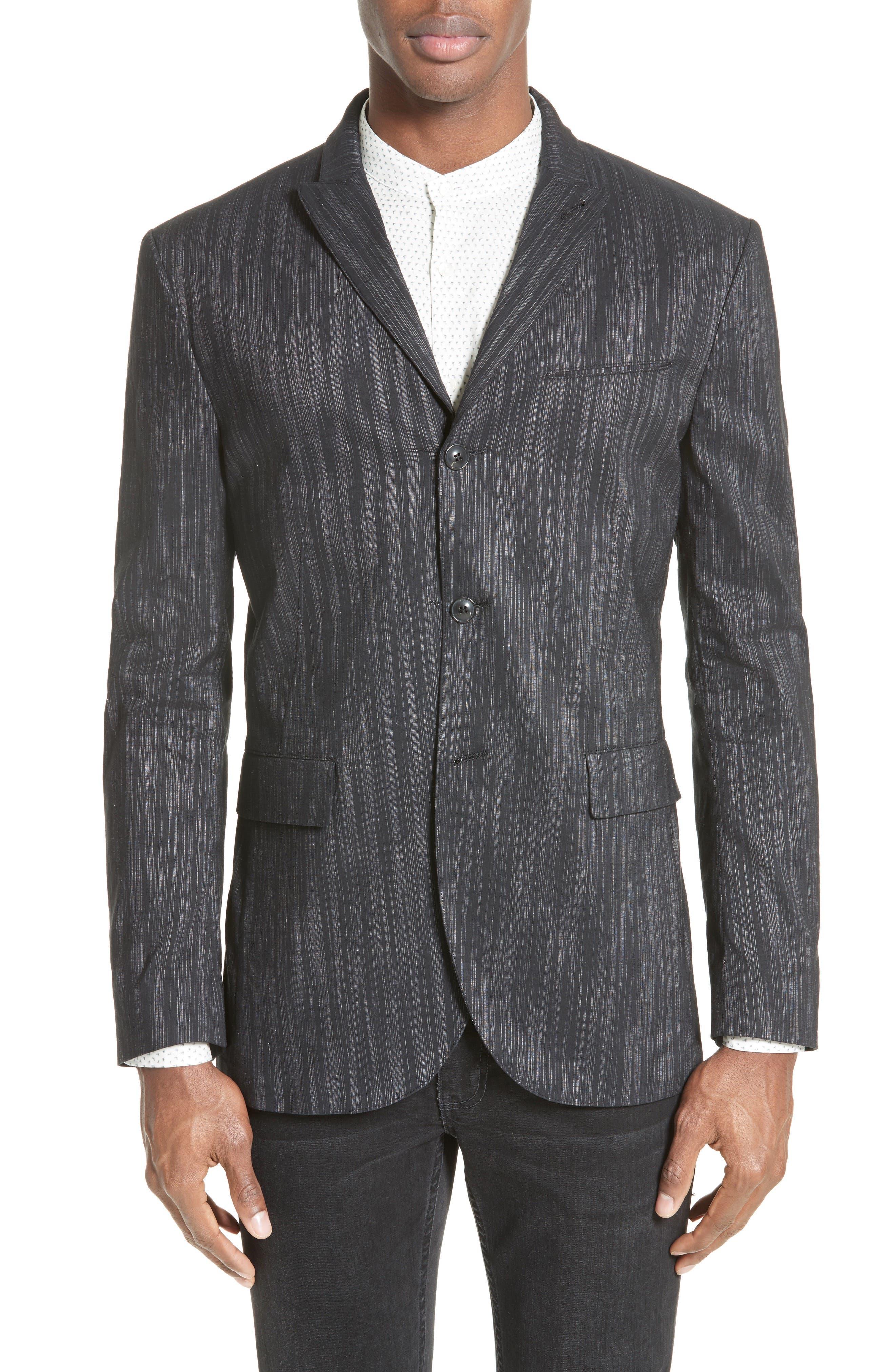 Slim Fit Sport Coat,                         Main,                         color, Black