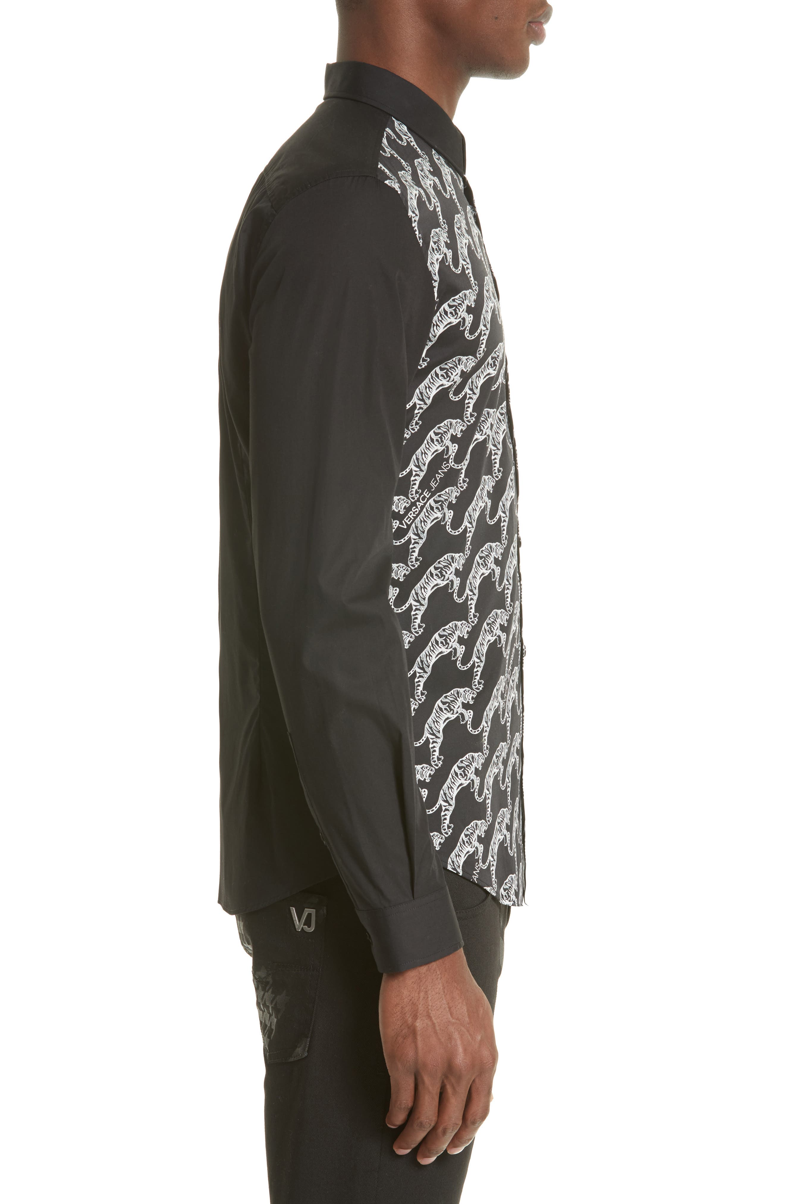 Alternate Image 3  - Versace Jeans Tiger Print Sport Shirt