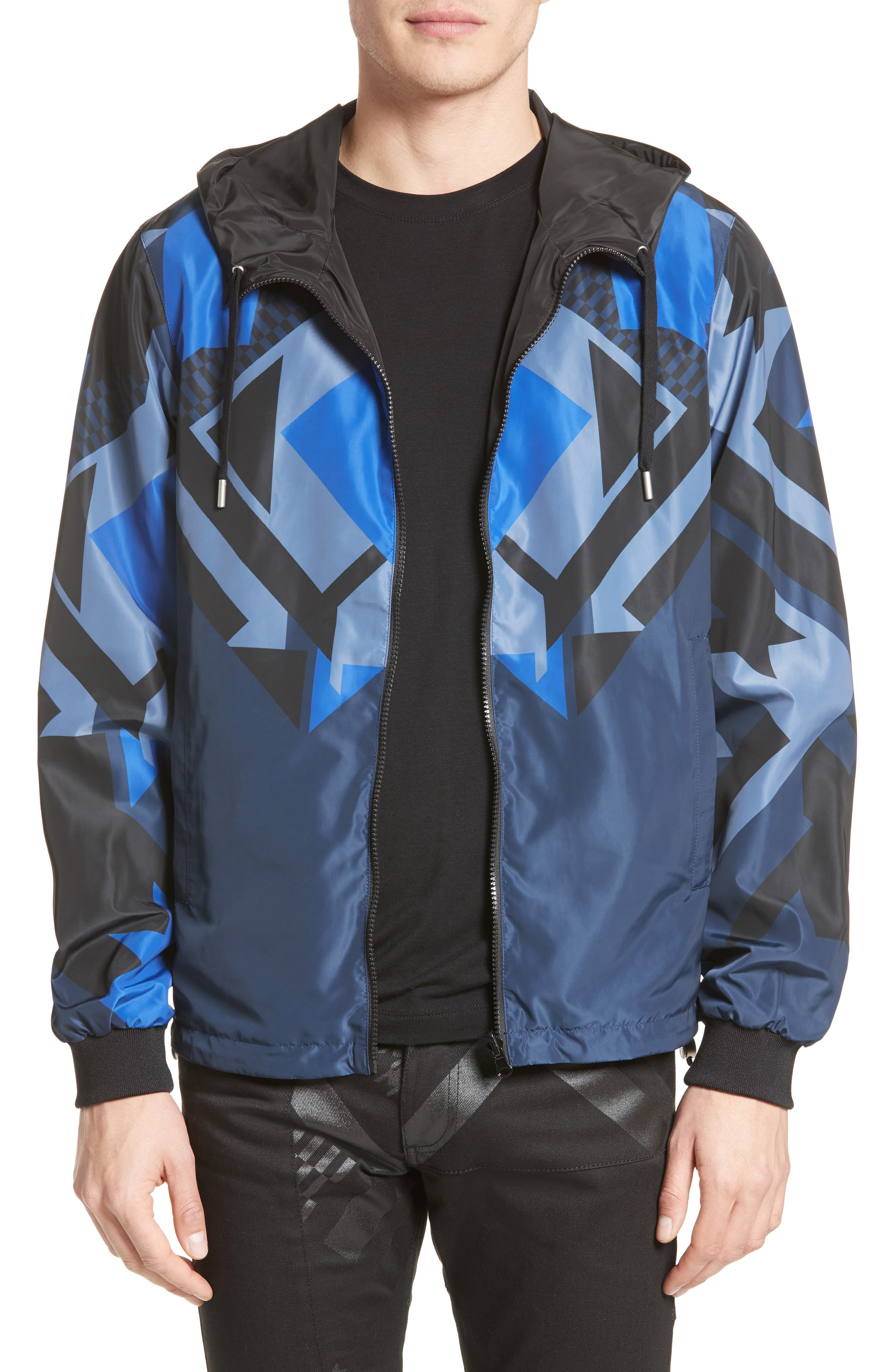 Main Image - Versace Jeans Reversible Print Windbreaker