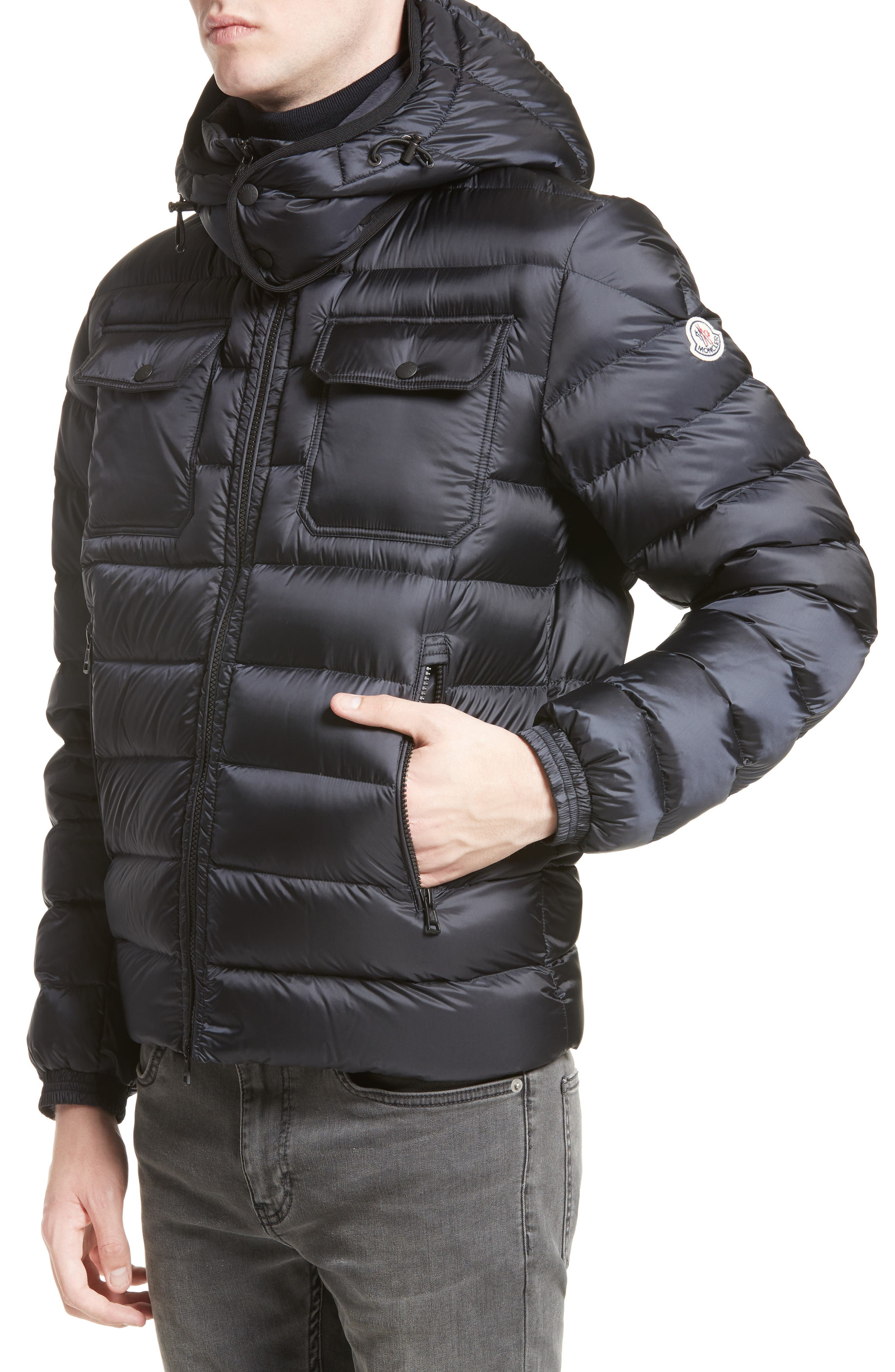 Valence Hooded Down Coat,                         Main,                         color, Navy
