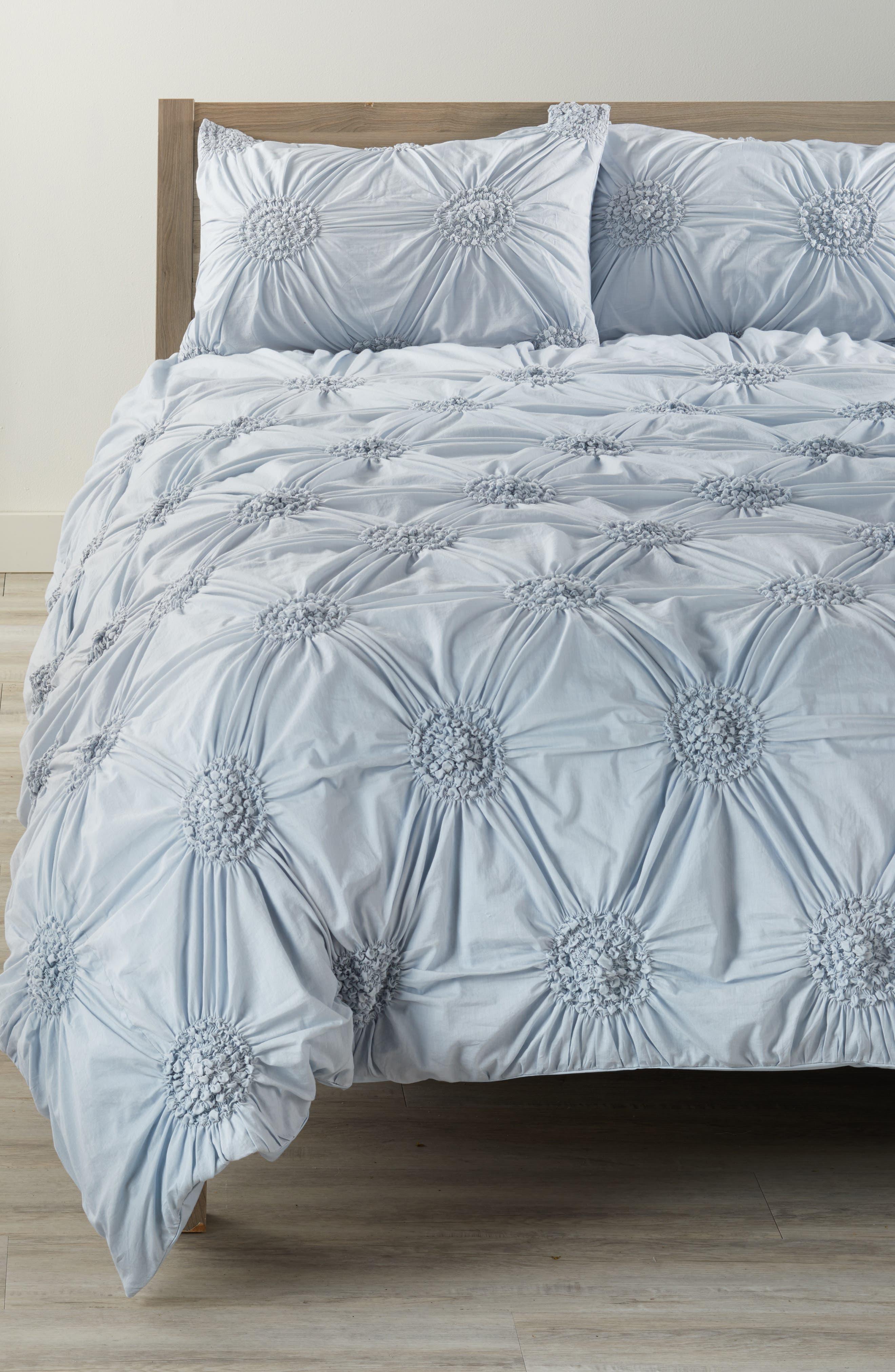 'Chloe' Duvet Cover,                         Main,                         color, Blue Pearl