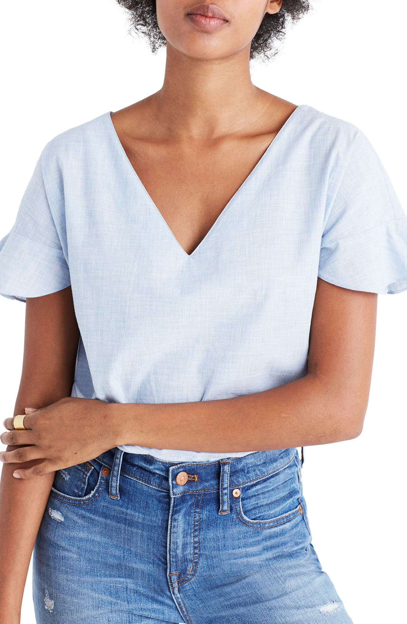 Alternate Image 1 Selected - Madewell Sundrift Ruffle Top