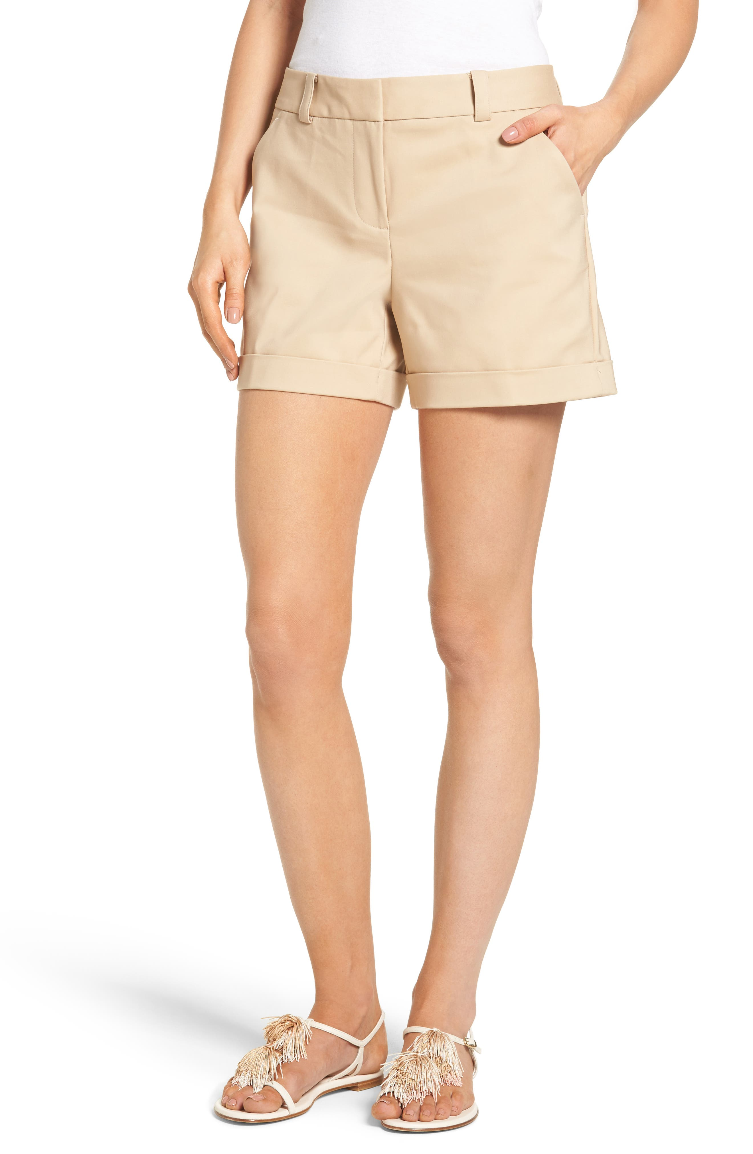Alternate Image 1 Selected - Vince Camuto Cuffed Shorts