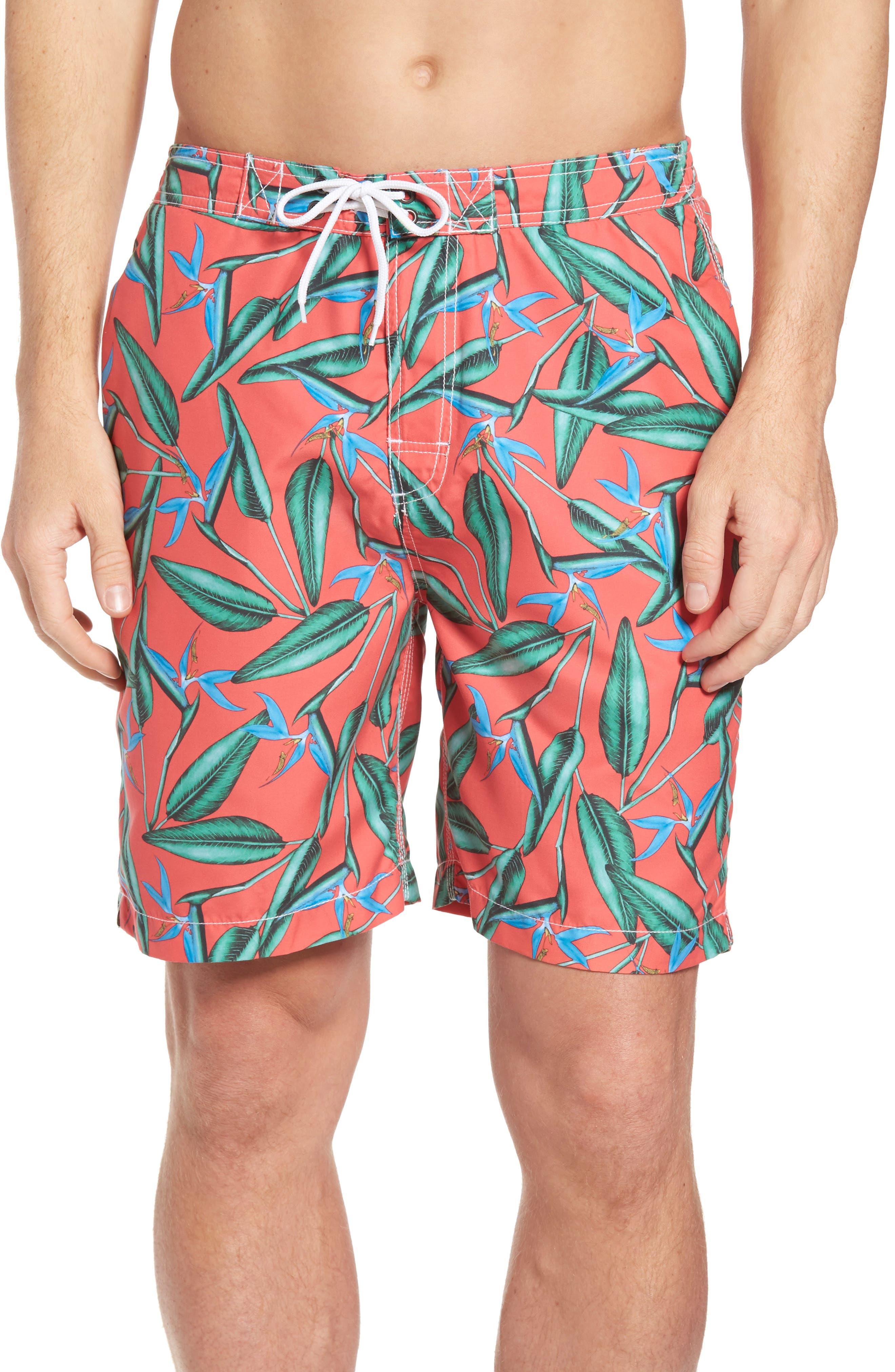 Trunks Surf & Swim Co. Swami Birds of Paradise Print Board Shorts