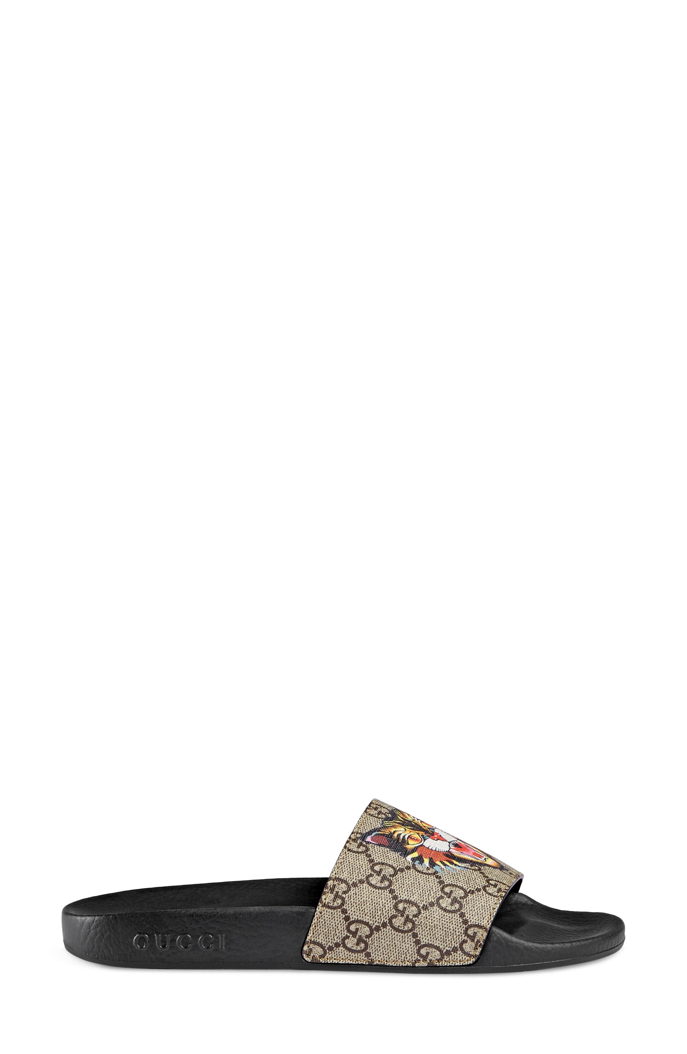 Alternate Image 1 Selected - Gucci Pursuit Tiger Print Slide Sandal (Women)