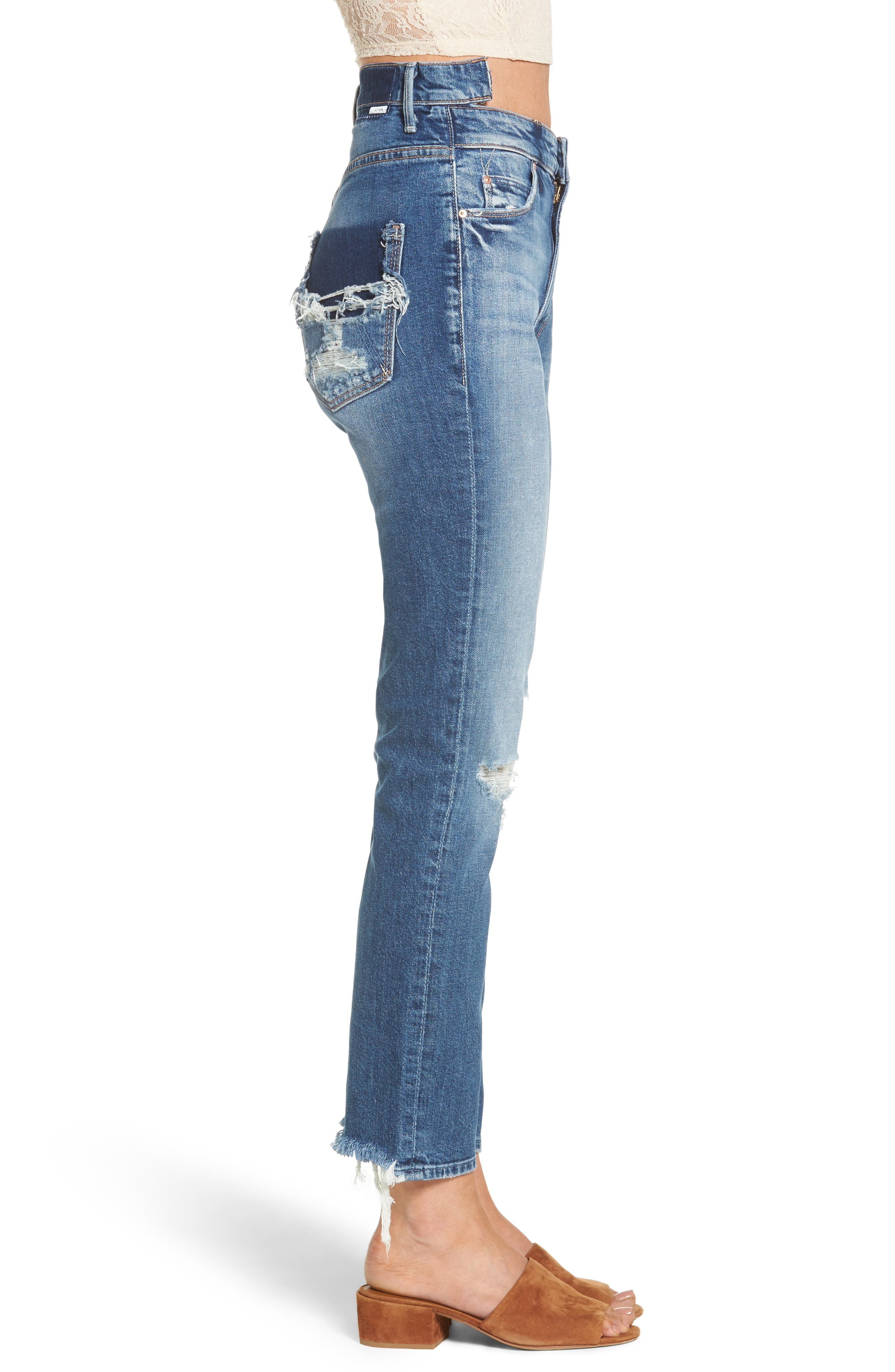 Dazzler Shift Step Waistband Jeans,                             Alternate thumbnail 3, color,                             Your Treat Or Mine