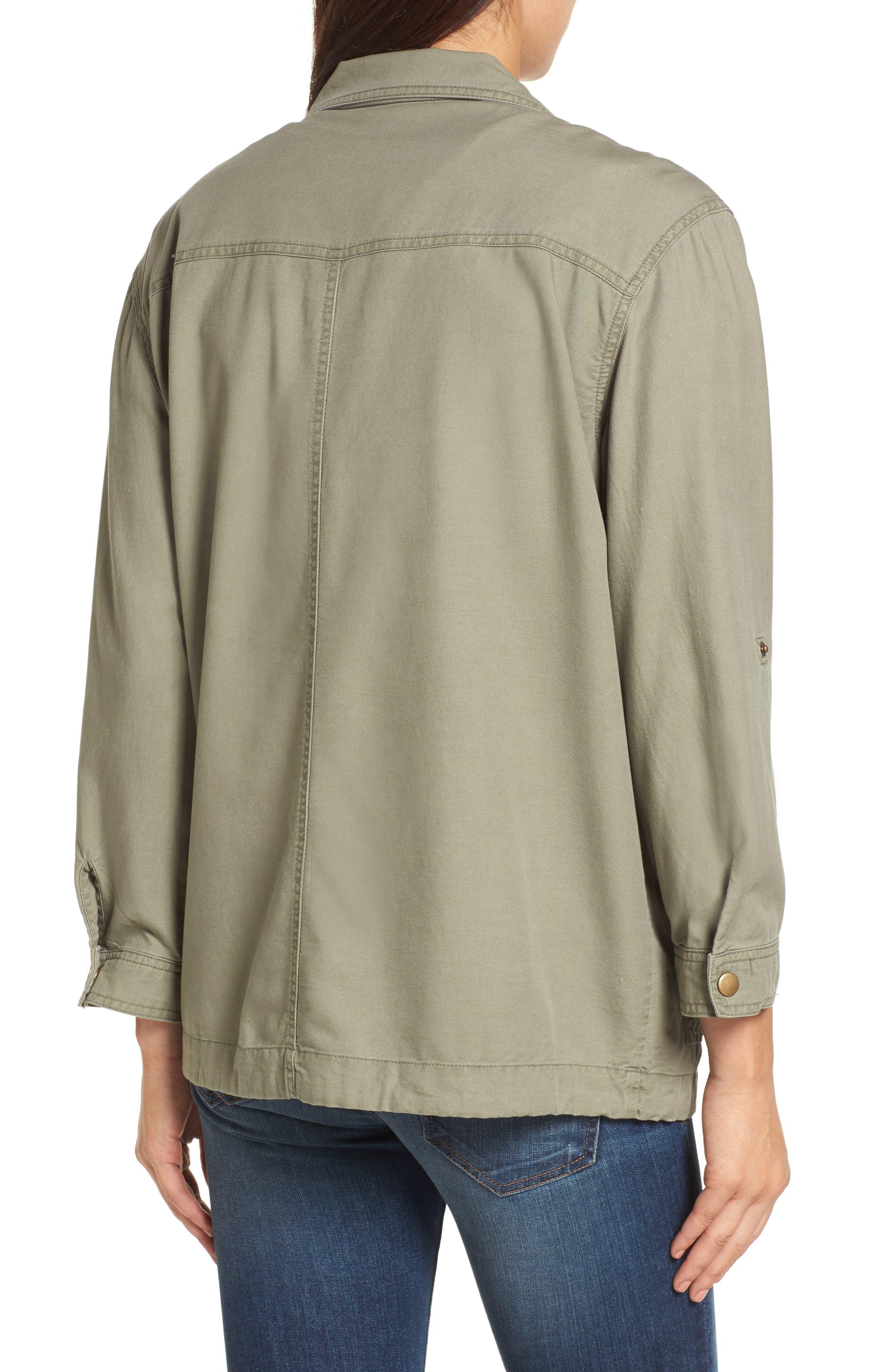 Alternate Image 4  - Caslon® Roll Sleeve Utility Jacket (Regular & Petite)